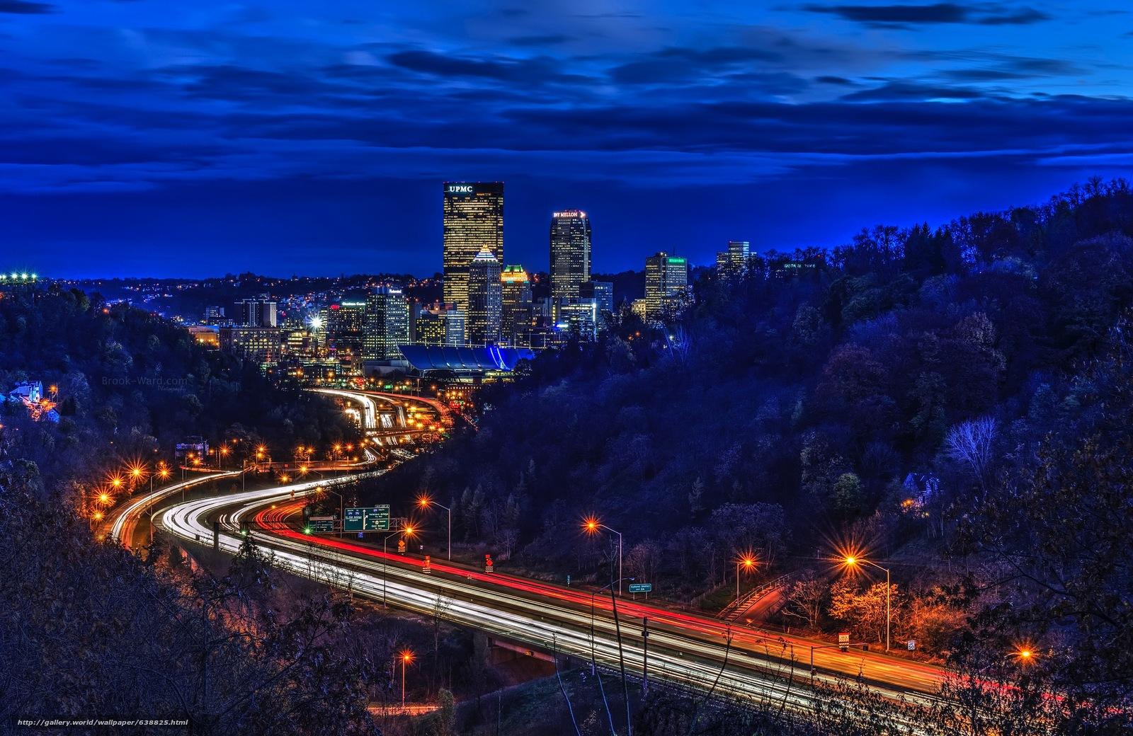 Скачать обои Pittsburgh,  Пенсильвания,  США бесплатно для рабочего стола в разрешении 2246x1460 — картинка №638825