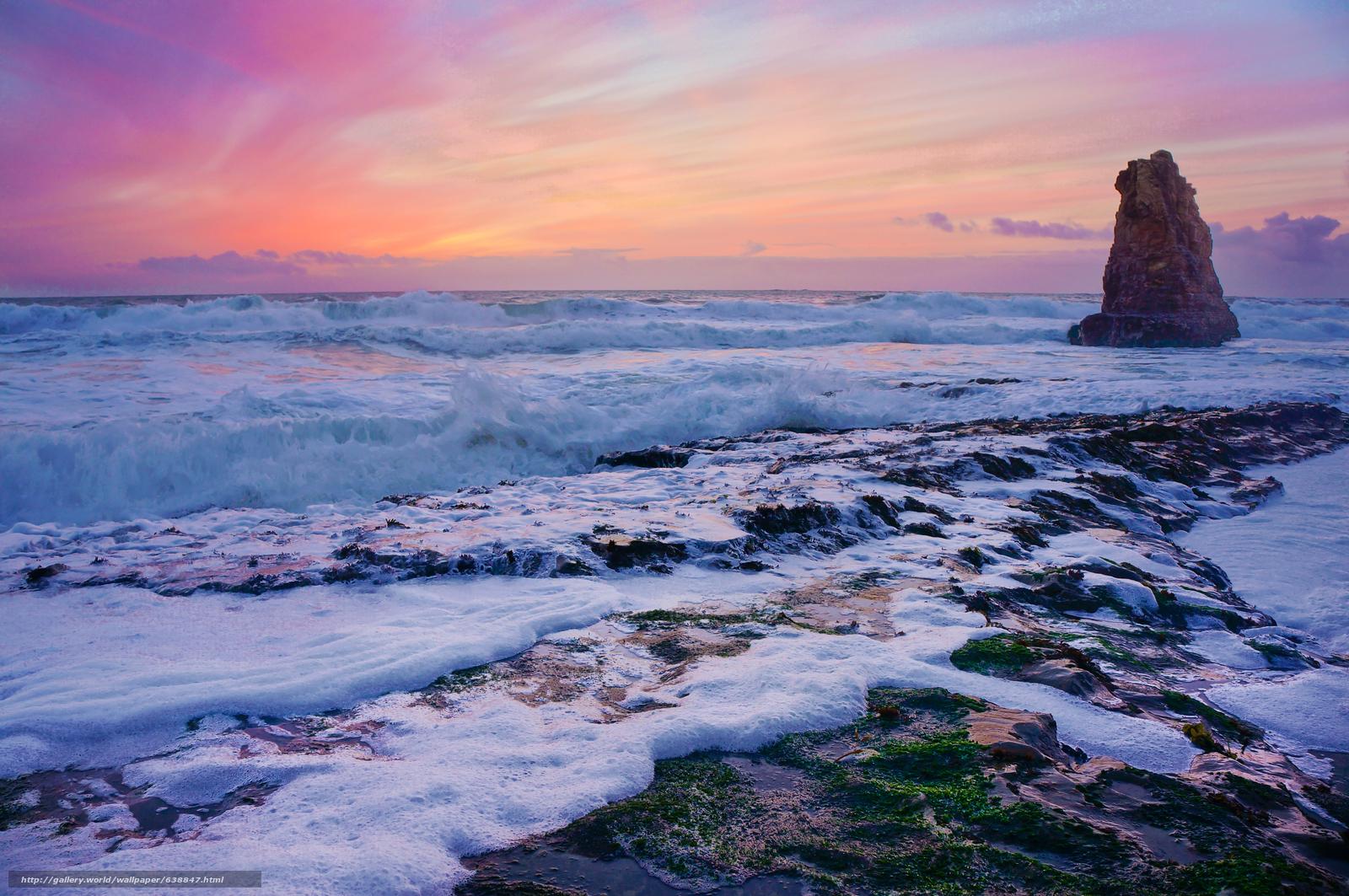 Скачать обои США,  Давенпорт,  закат,  море бесплатно для рабочего стола в разрешении 4873x3238 — картинка №638847