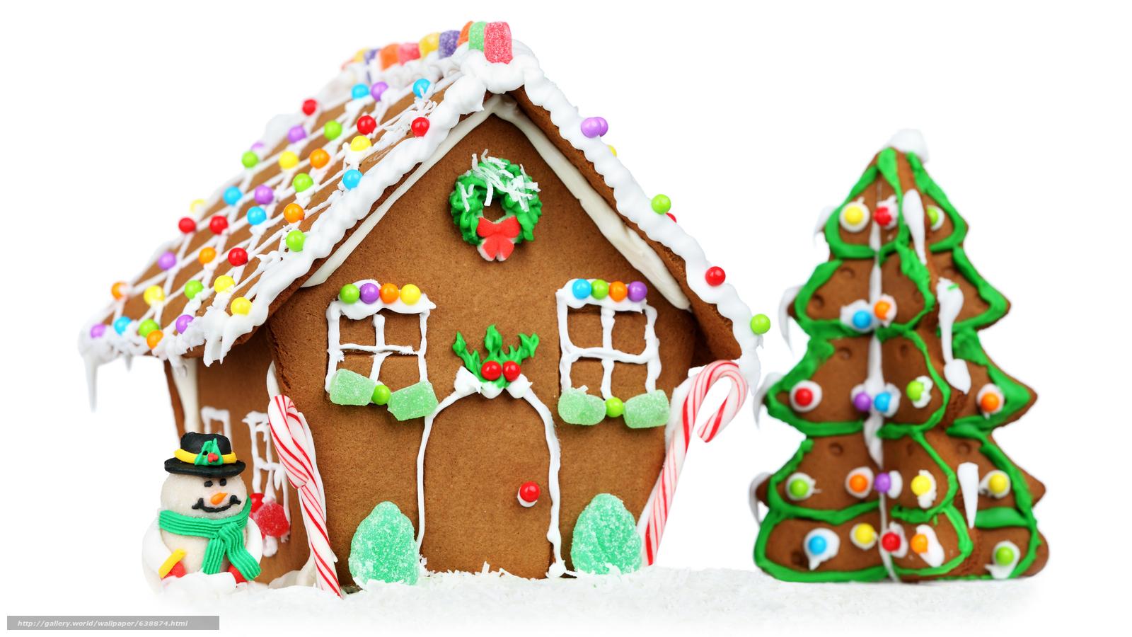Descargar gratis Año Nuevo,  galletas,  fiesta,  casa de jengibre Fondos de escritorio en la resolucin 7680x4320 — imagen №638874