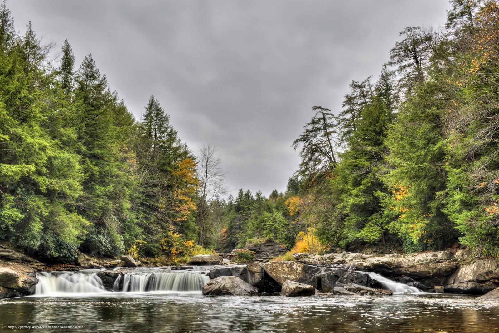scaricare gli sfondi Swallow Falls State Park,  Maryland,  USA,  Tolliver cascata Sfondi gratis per la risoluzione del desktop 2048x1367 — immagine №638897