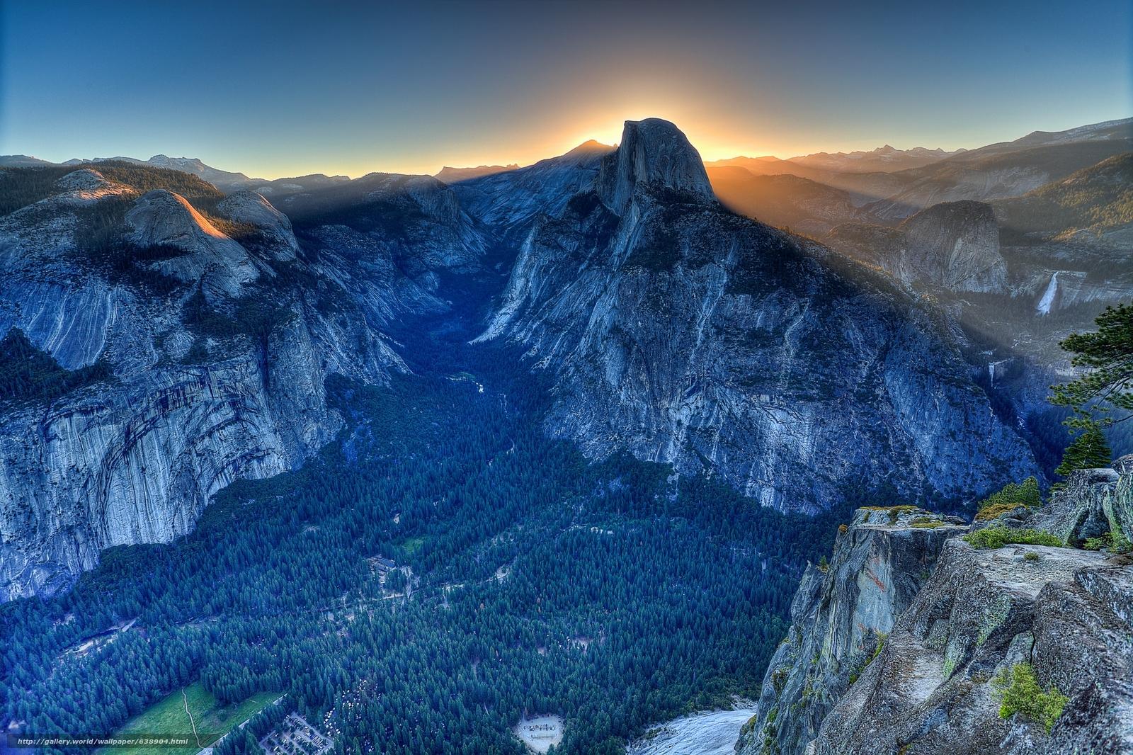 Скачать обои Glacier Point,  Yosemite Valley,  California,  USA бесплатно для рабочего стола в разрешении 2048x1364 — картинка №638904