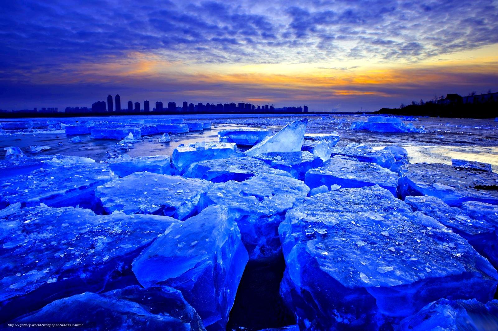 Descargar gratis hielo,  invierno,  puesta del sol,  bloques Fondos de escritorio en la resolucin 2333x1555 — imagen №638911