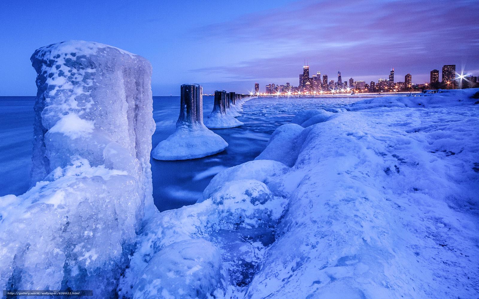 Descargar gratis Lago Michigan,  invierno,  hielo,  paisaje Fondos de escritorio en la resolucin 2048x1283 — imagen №638922