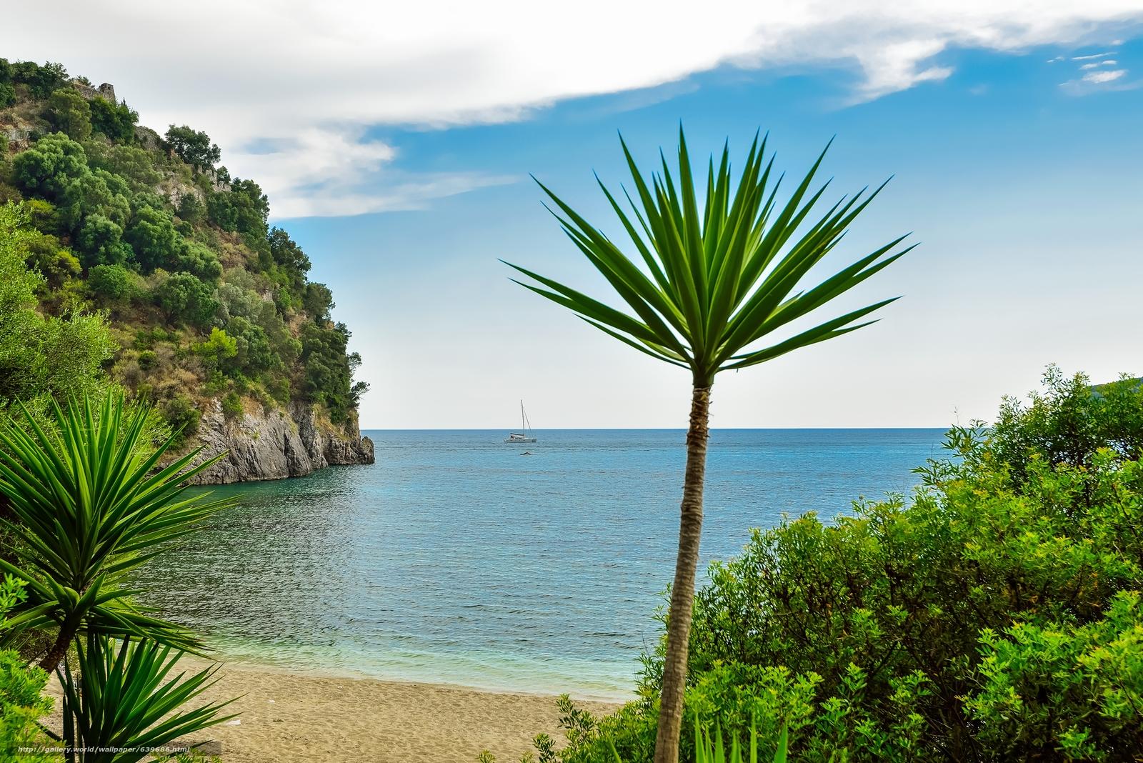 scaricare gli sfondi Parga,  Grecia,  mare,  paesaggio Sfondi gratis per la risoluzione del desktop 5871x3919 — immagine №639686