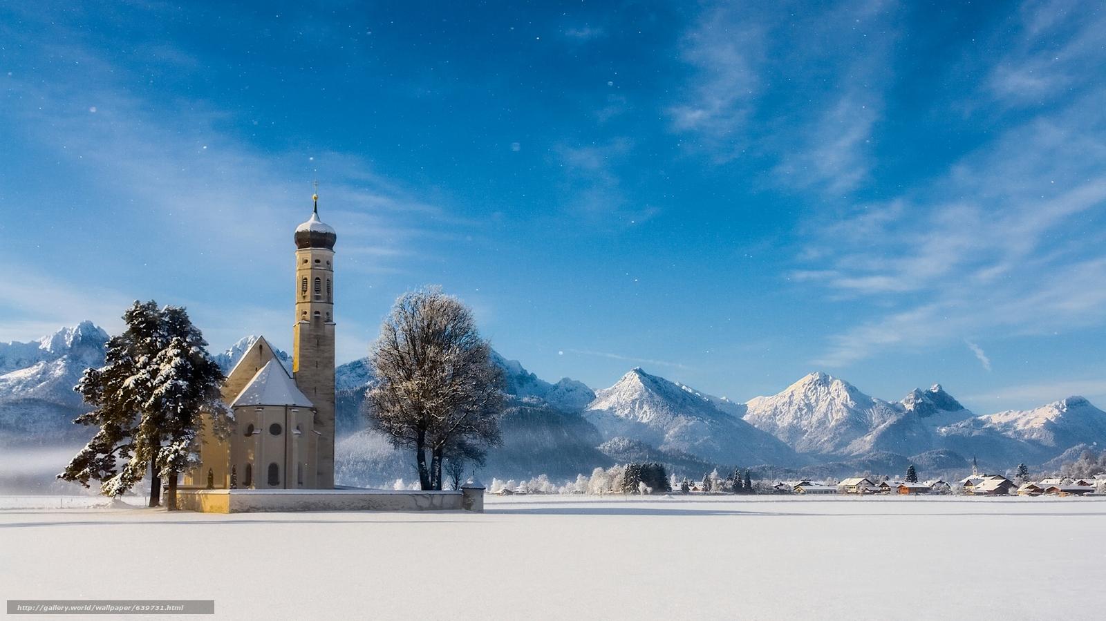 scaricare gli sfondi Sankt Coloman,  Schwangau,  Baviera,  Germania Sfondi gratis per la risoluzione del desktop 2050x1152 — immagine №639731