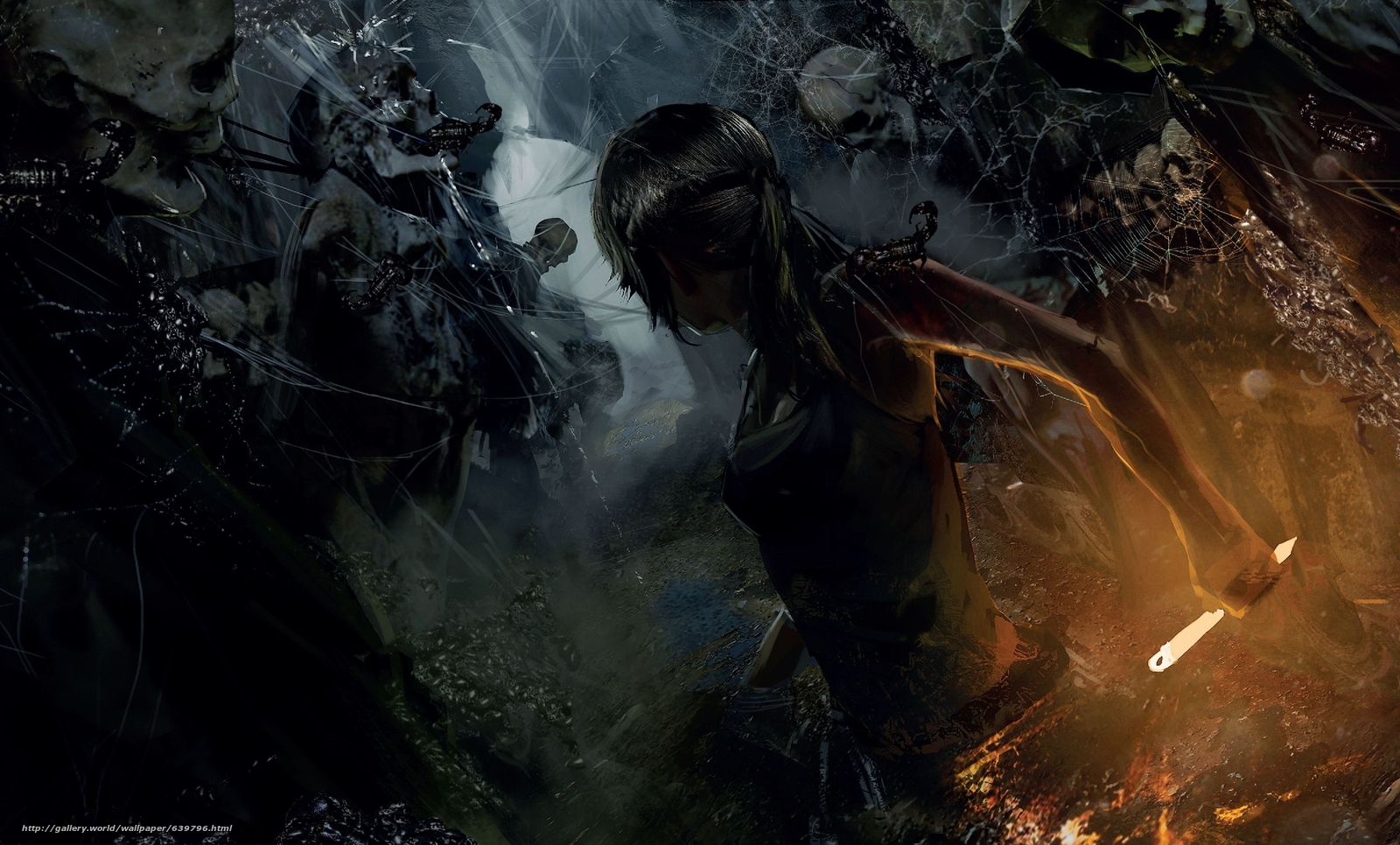 Download wallpaper Rise of the Tomb Raider,  Tomb Raider,  Lara Croft,  skeletons free desktop wallpaper in the resolution 3612x2180 — picture №639796