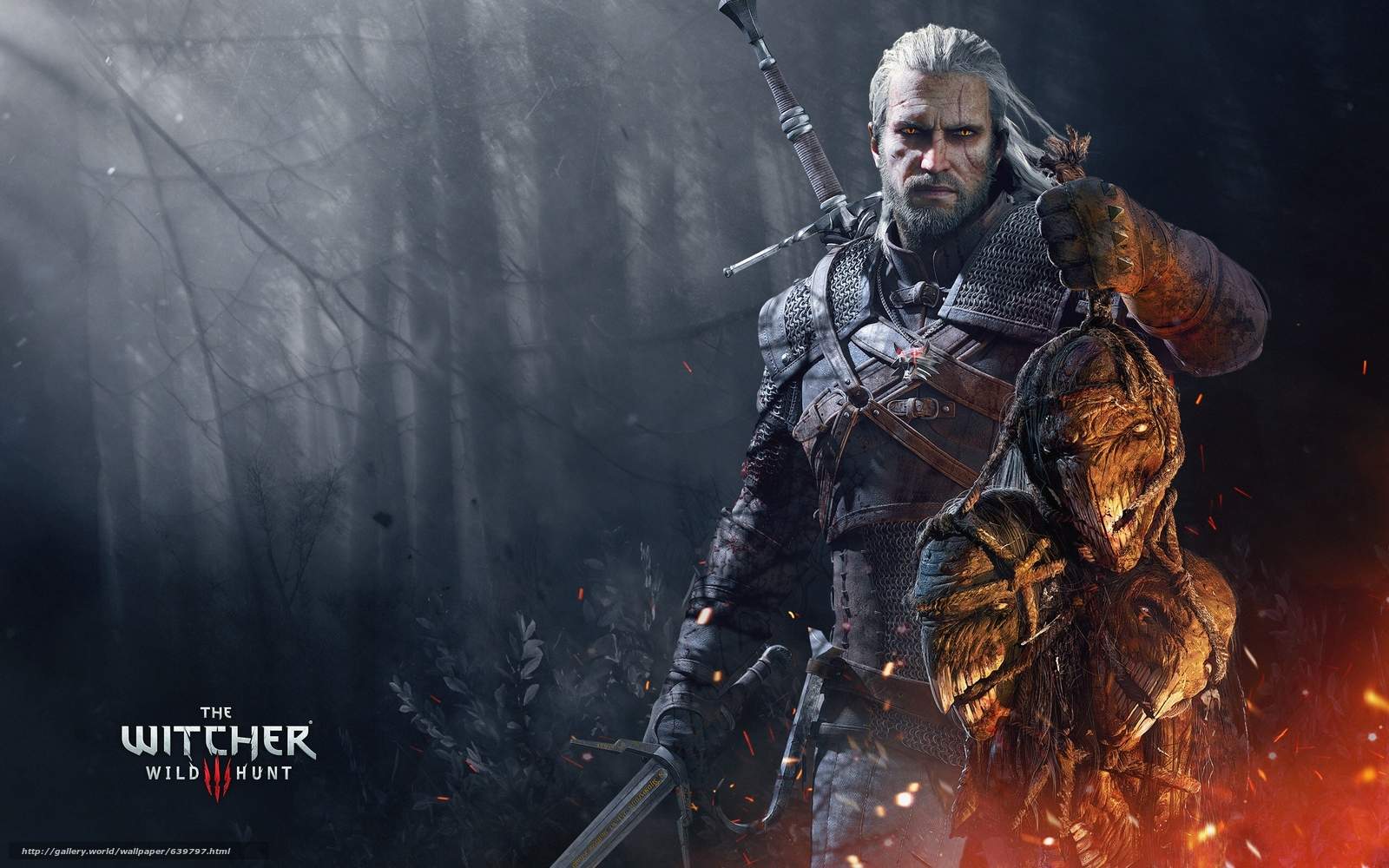 Download wallpaper The Witcher 3: Wild Hunt,  The Witcher 3,  Wild Hunt,  Geralt free desktop wallpaper in the resolution 2560x1600 — picture №639797