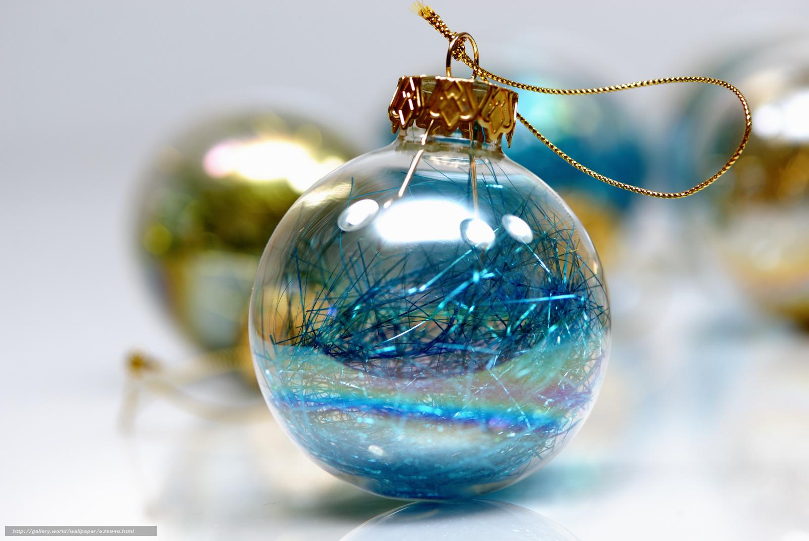 scaricare gli sfondi Capodanno,  palla,  Addobbi natalizi,  pioggia Sfondi gratis per la risoluzione del desktop 3872x2592 — immagine №639846
