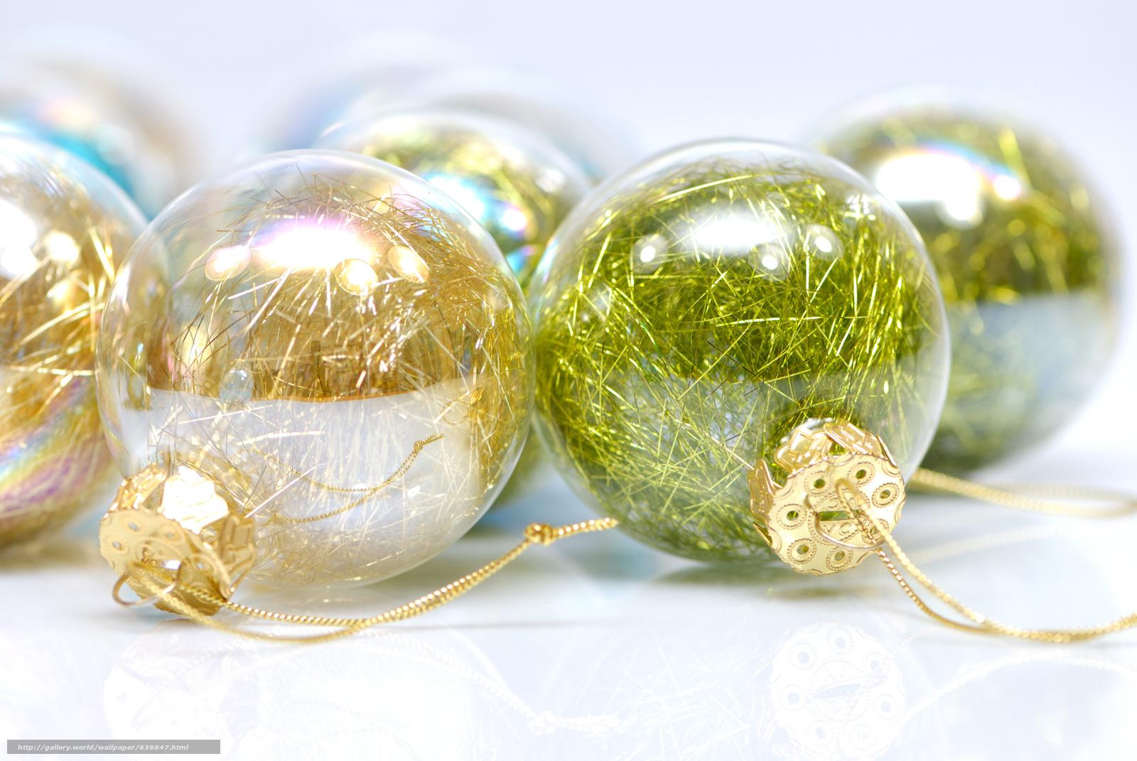 scaricare gli sfondi Capodanno,  Palline,  Natale,  vetro Sfondi gratis per la risoluzione del desktop 3872x2592 — immagine №639847