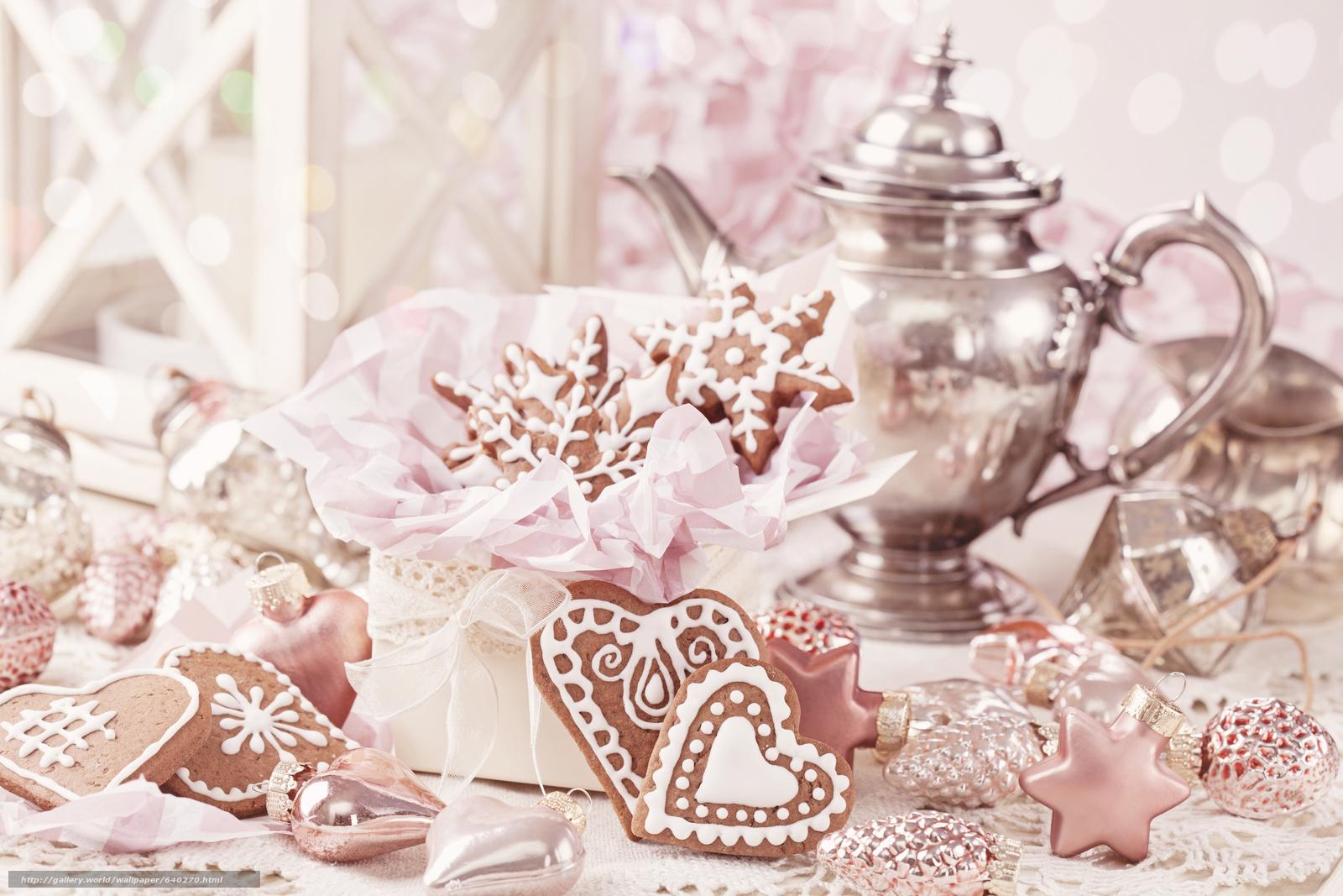 Descargar gratis Año Nuevo,  Navidad,  galletas,  hervidor Fondos de escritorio en la resolucin 5616x3744 — imagen №640270