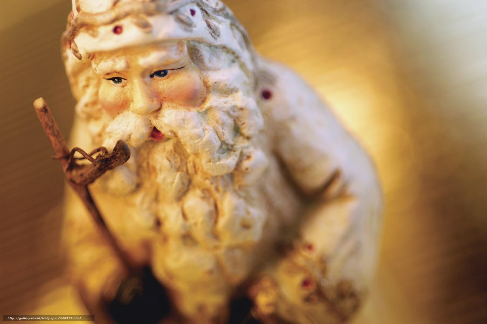 Скачать обои Дед Мороз,  Санта Клаус,  ёлочная игрушка,  новый год бесплатно для рабочего стола в разрешении 5475x3640 — картинка №640375