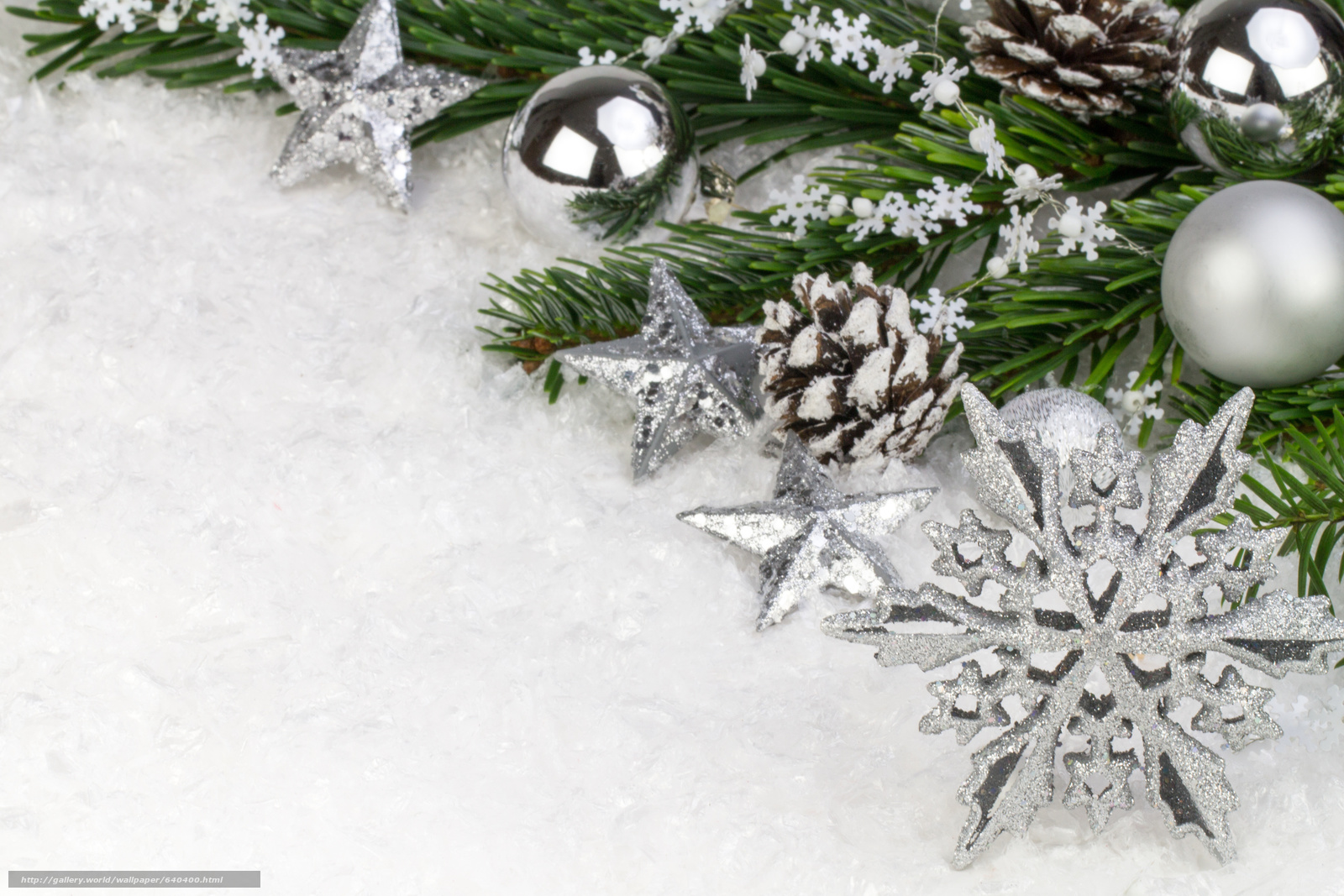 Download wallpaper New Year,  Christmas,  Christmas decorations,  snowflake free desktop wallpaper in the resolution 4695x3130 — picture №640400