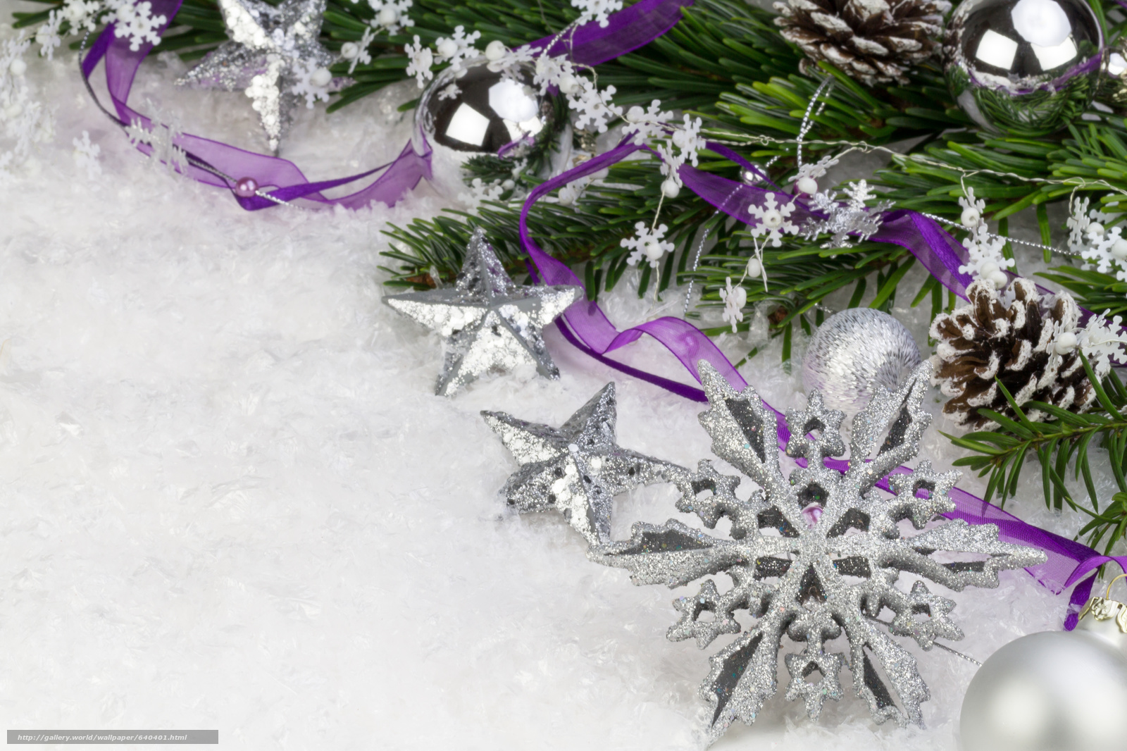 Download wallpaper New Year,  Christmas,  Christmas decorations,  snowflake free desktop wallpaper in the resolution 4834x3222 — picture №640401