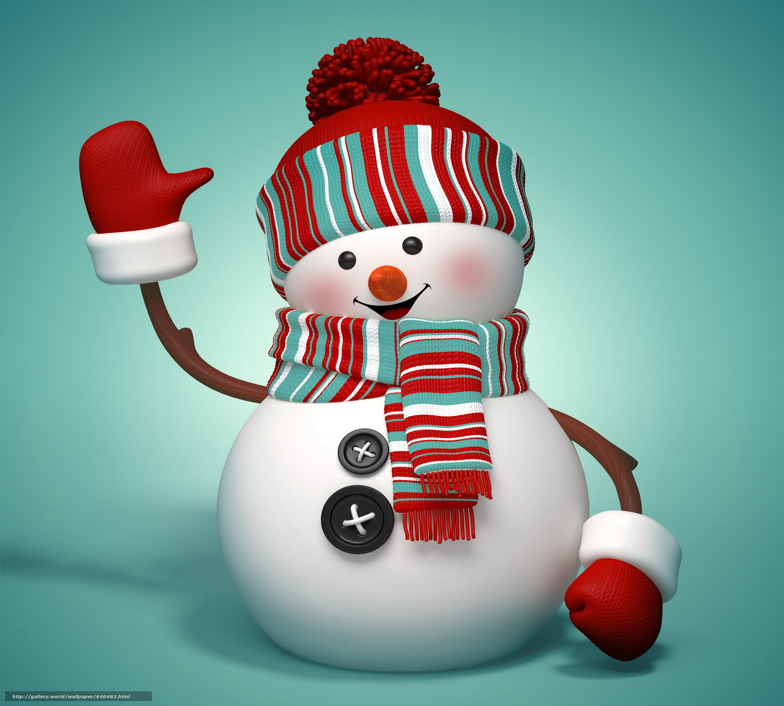Download Wallpaper New Year, Holiday, Snowman, Snowmen
