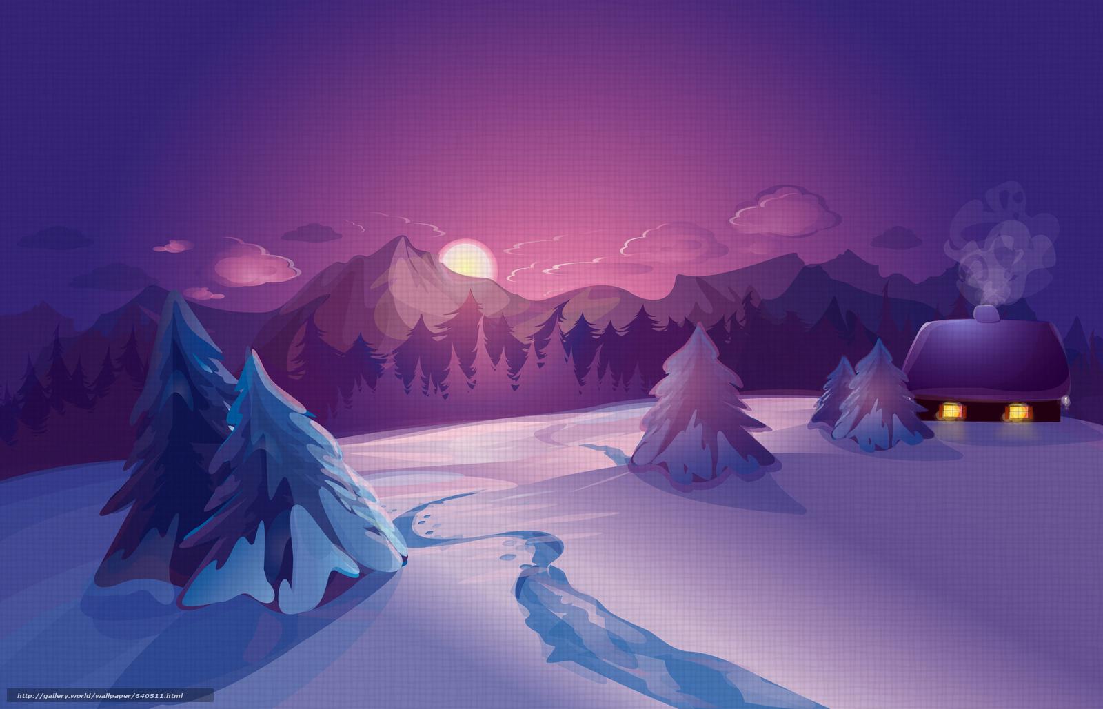 Скачать обои зима,  снег,  ночь,  луна бесплатно для рабочего стола в разрешении 7677x4935 — картинка №640511