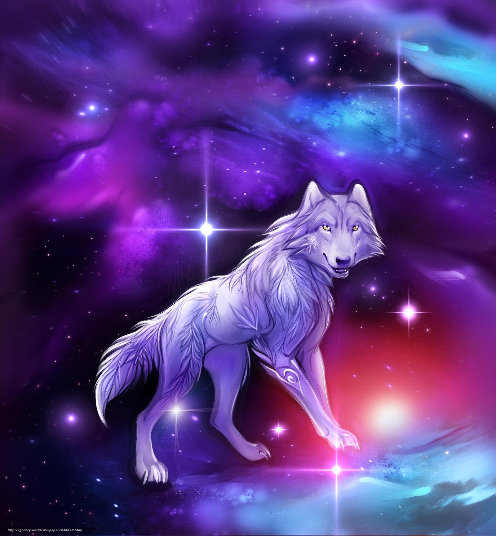 Descargar gratis lobo,  Universo,  3d,  arte Fondos de escritorio en la resolucin 2500x2700 — imagen №640895