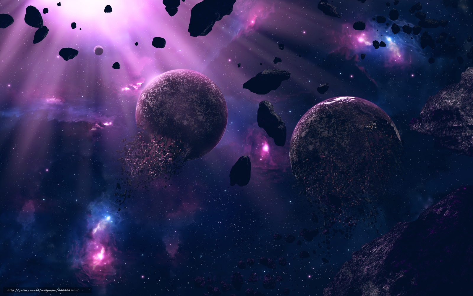 Download wallpaper space planet 3d art free desktop for Space blast 3d