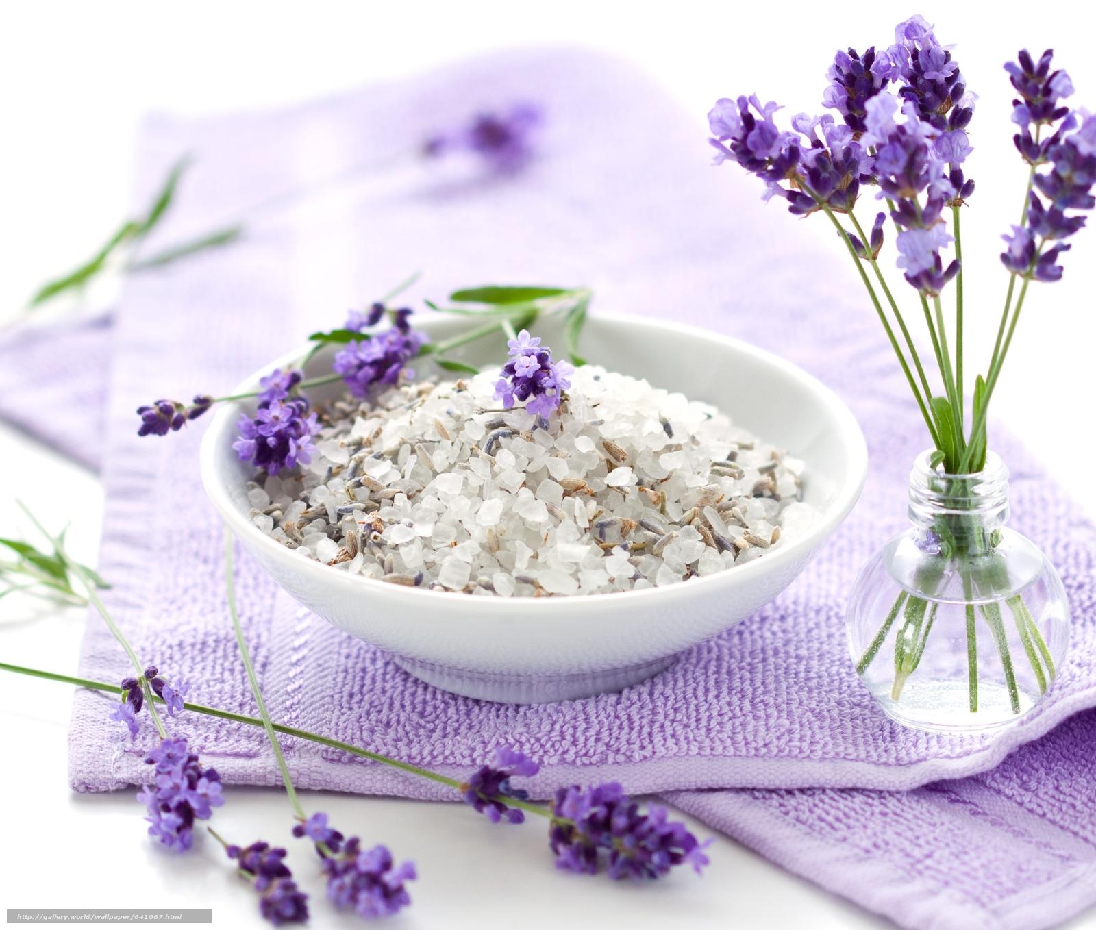 Скачать обои цветы,  лаванда,  соль,  косметика бесплатно для рабочего стола в разрешении 5441x4618 — картинка №641067