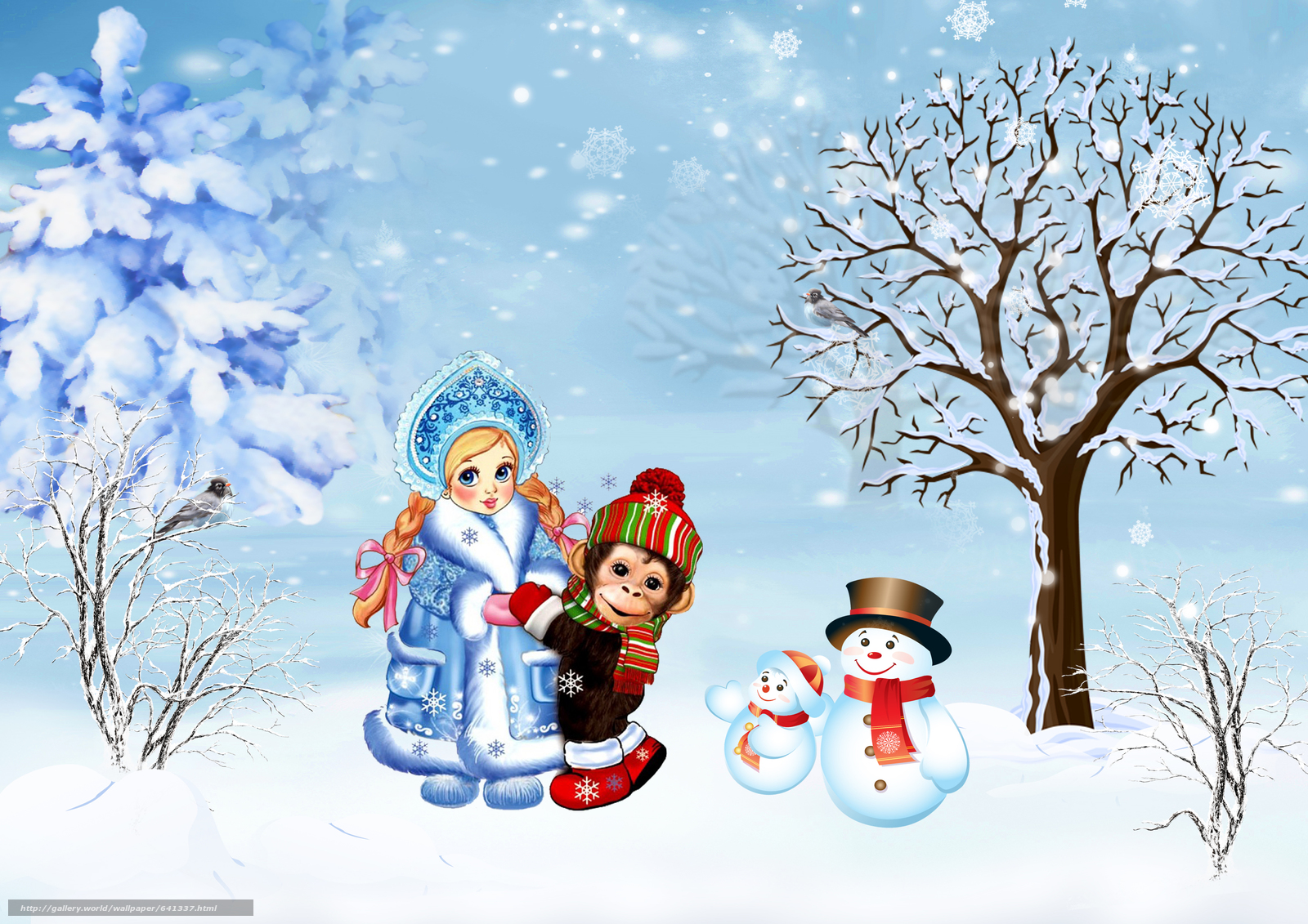 Download wallpaper Christmas Wallpaper,  Christmas Background,  year of the monkey,  happy new year free desktop wallpaper in the resolution 4961x3508 — picture №641337