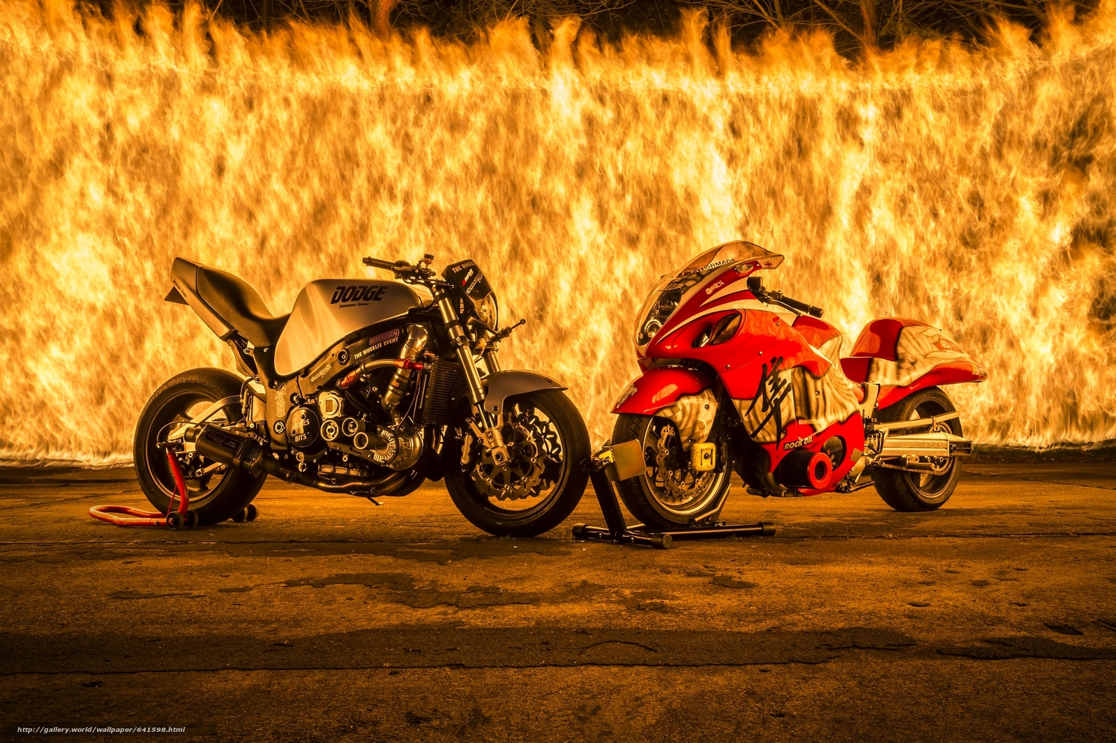 Download wallpaper wall of fire,  fire,  motorcycles,  panorama free desktop wallpaper in the resolution 2048x1365 — picture №641598