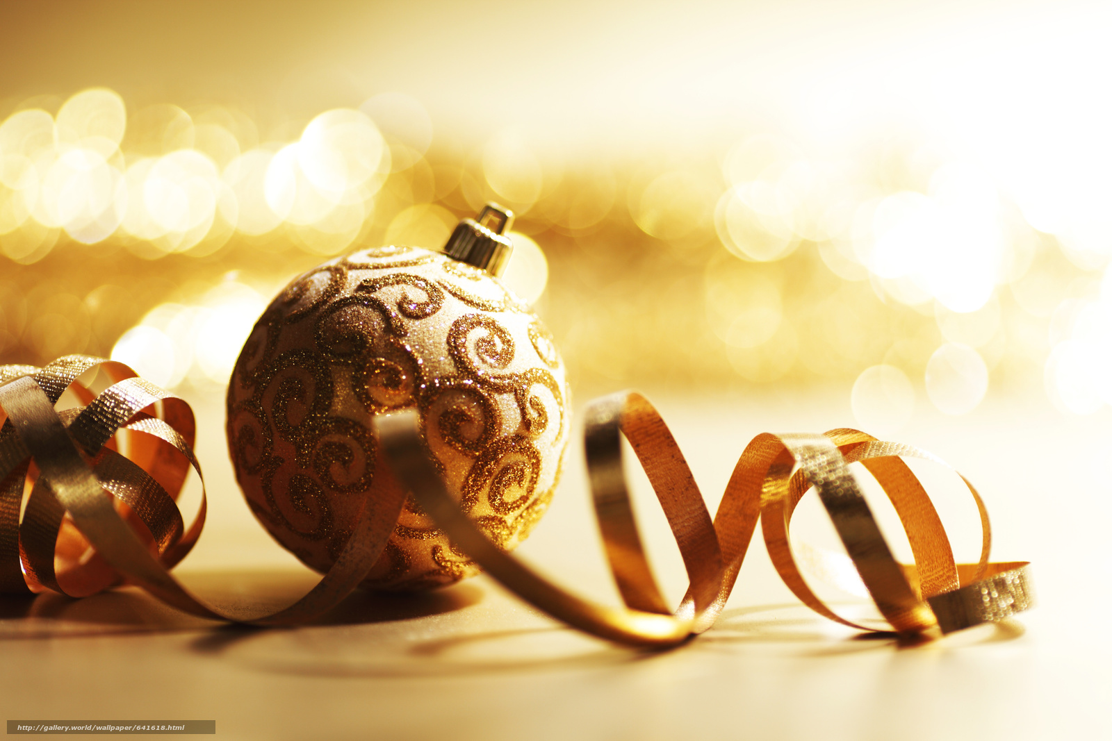 Download wallpaper New Year,  Christmas decorations,  Balls,  gilding free desktop wallpaper in the resolution 5432x3621 — picture №641618