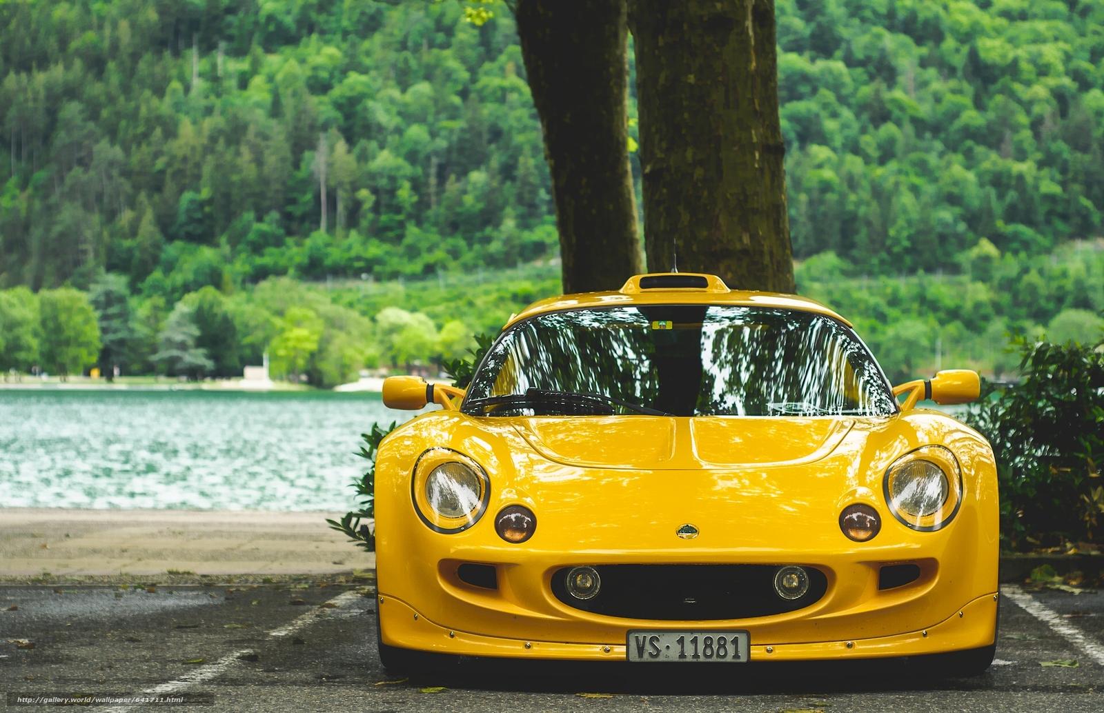 Скачать обои Lotus Exige S1,  Lotus Exige,  спорткар,  жёлтый бесплатно для рабочего стола в разрешении 1920x1241 — картинка №641711