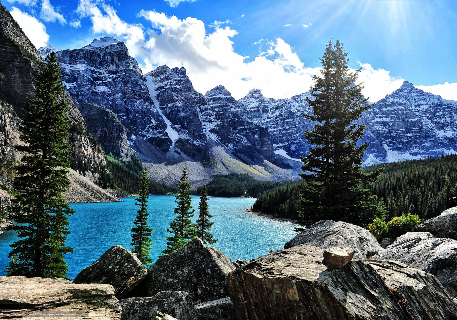 Moraine Lake, Banff, Rocky Mountain