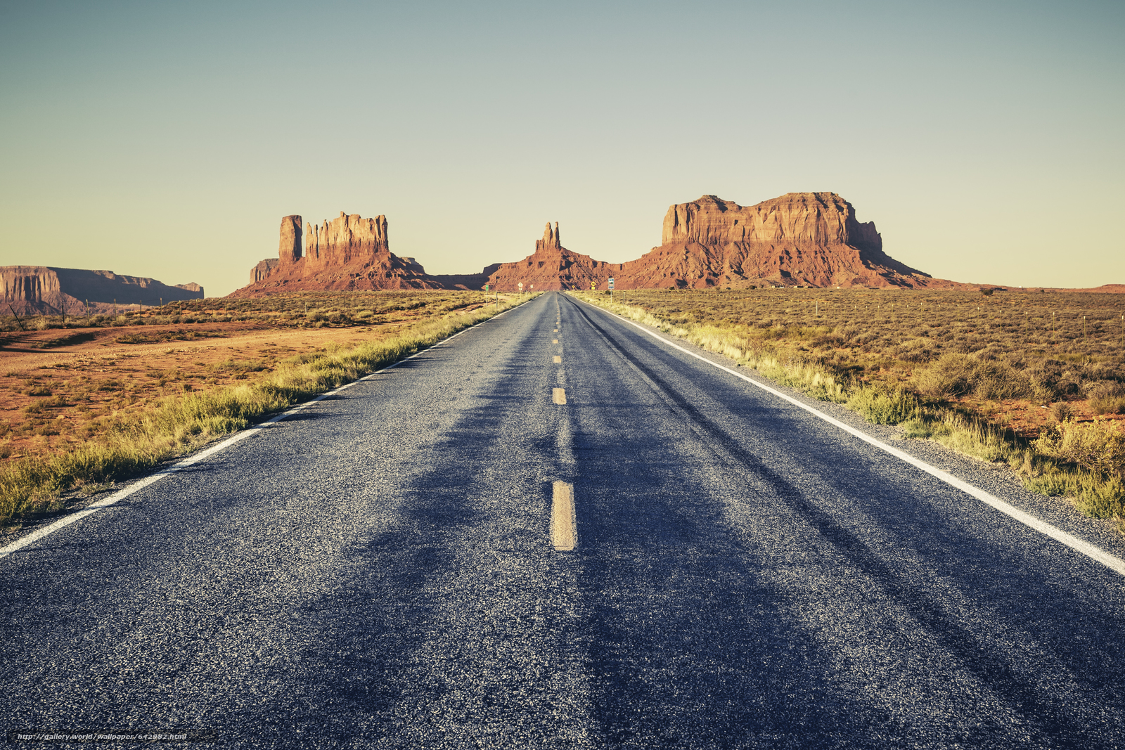 Download wallpaper Monument Valley,  USA,  road,  field free desktop wallpaper in the resolution 4004x2669 — picture №642982