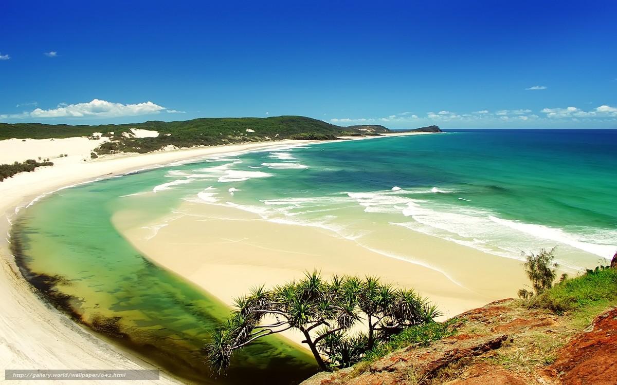 Скачать обои природа,  вода,  песок,  пляж бесплатно для рабочего стола в разрешении 2560x1600 — картинка №642