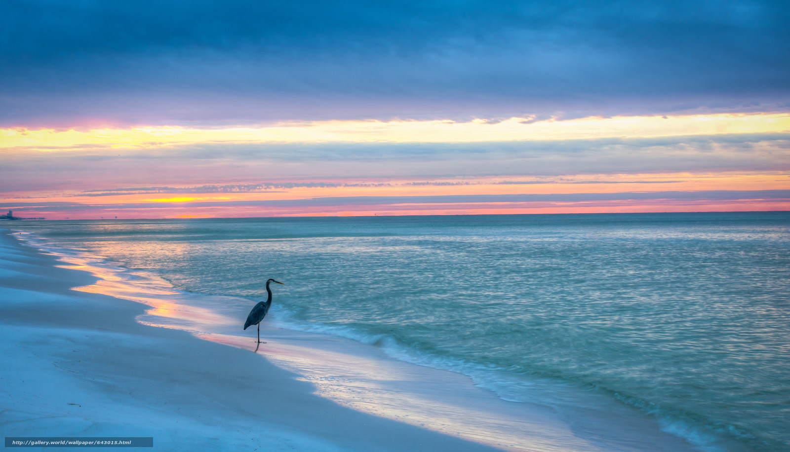 Download Wallpaper Gulf Of Mexico Blue Mountain Beach Florida Sunset Free Desktop In The Resolution 2048x1173 Picture No643015
