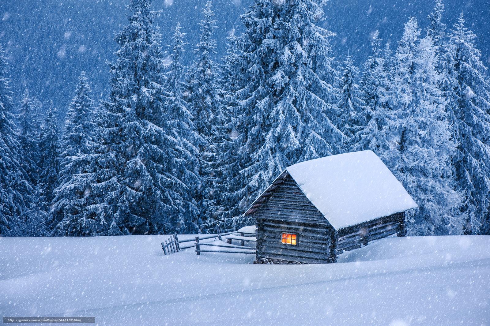 Скачать обои зима,  снег,  сугробы,  деревья бесплатно для рабочего стола в разрешении 6000x3992 — картинка №643132