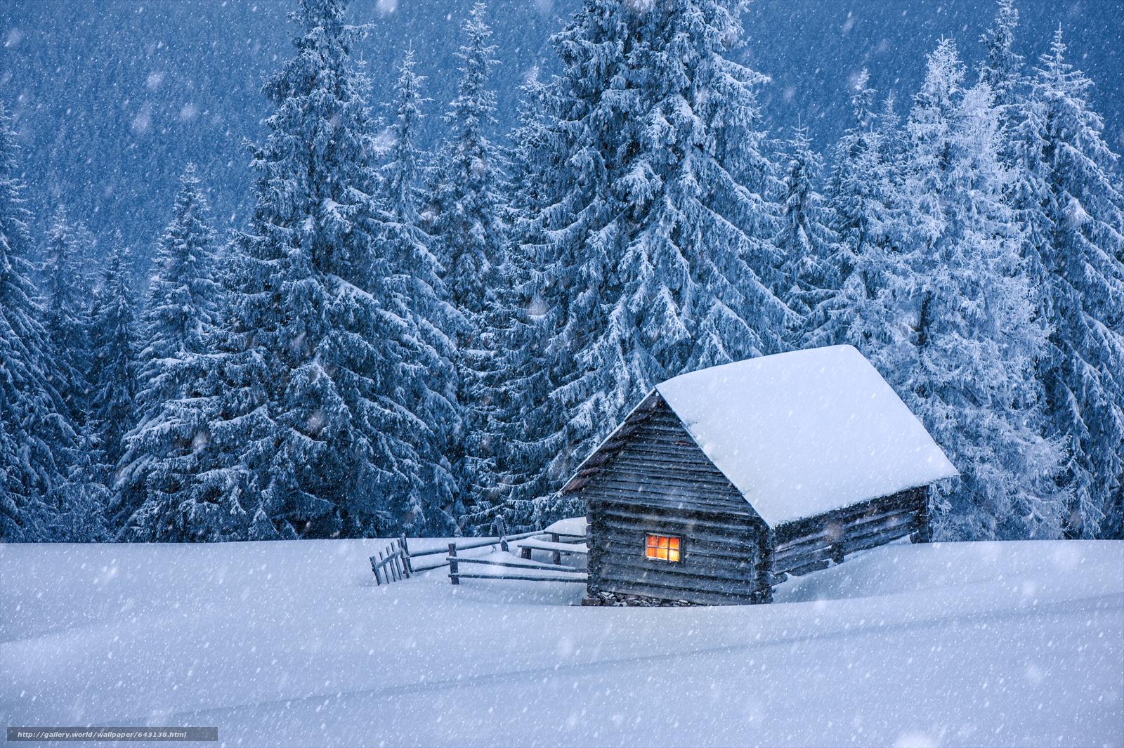 Скачать обои зима,  снег,  сугробы,  деревья бесплатно для рабочего стола в разрешении 8512x5664 — картинка №643138