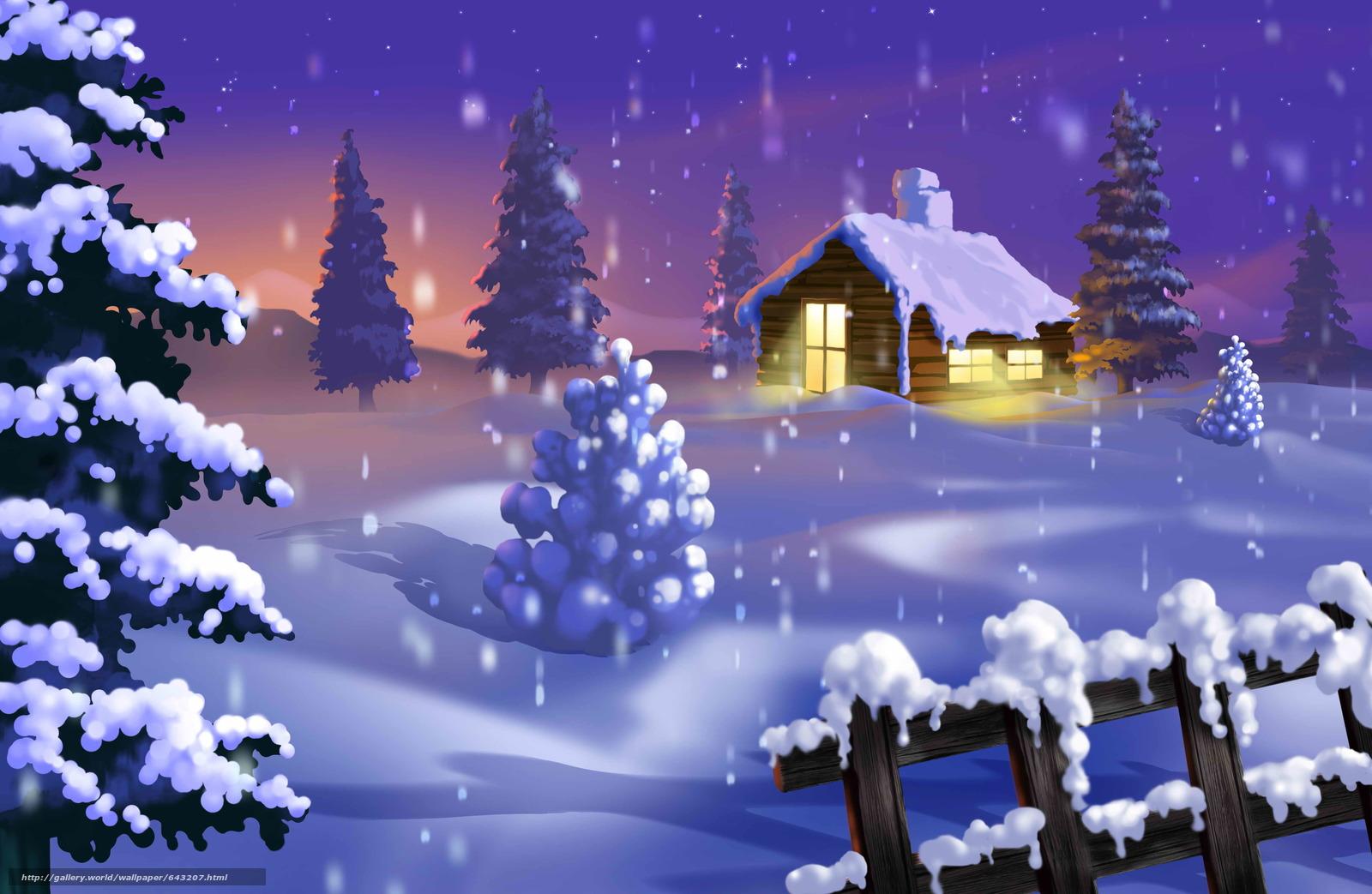 Скачать обои зима,  снег,  сугробы,  деревья бесплатно для рабочего стола в разрешении 5175x3375 — картинка №643207