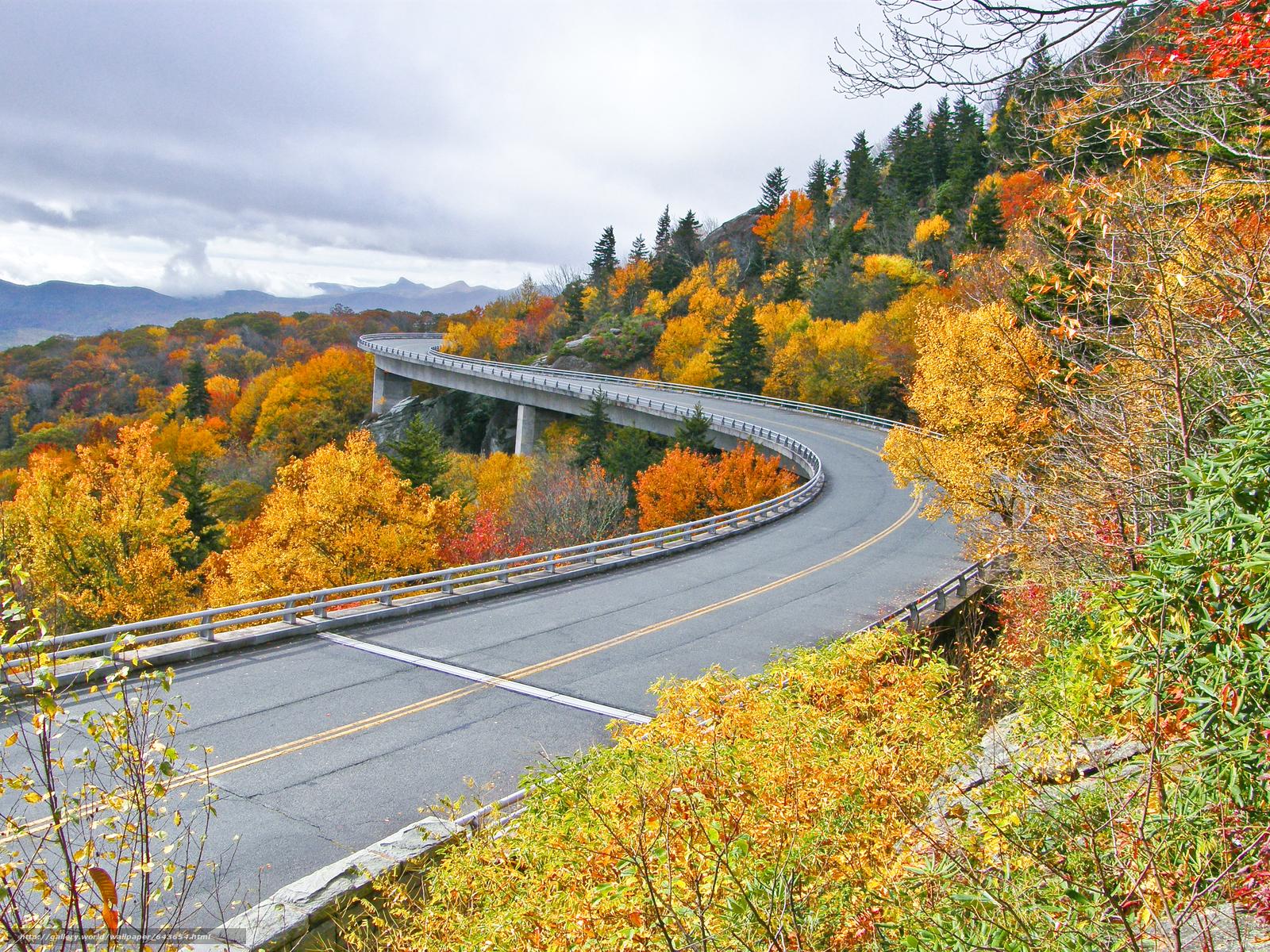 Скачать обои Шоссе Линн Ков,  Linn Cove Viaduct,  США,  мост бесплатно для рабочего стола в разрешении 3072x2304 — картинка №643654