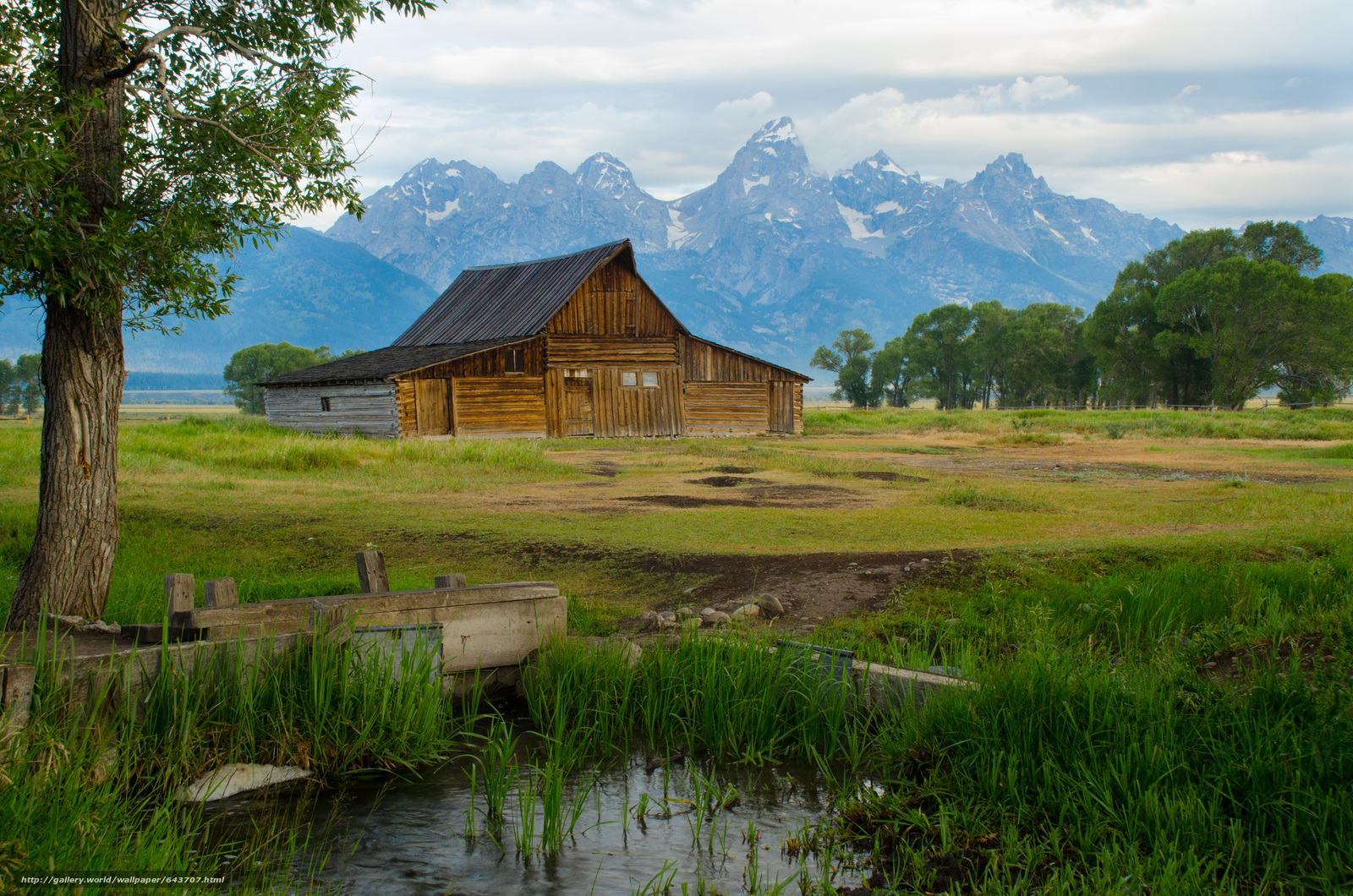 Download wallpaper thomas moulton barn,  Mormon Row,  Grand Teton National Park,  hut free desktop wallpaper in the resolution 4928x3264 — picture №643707