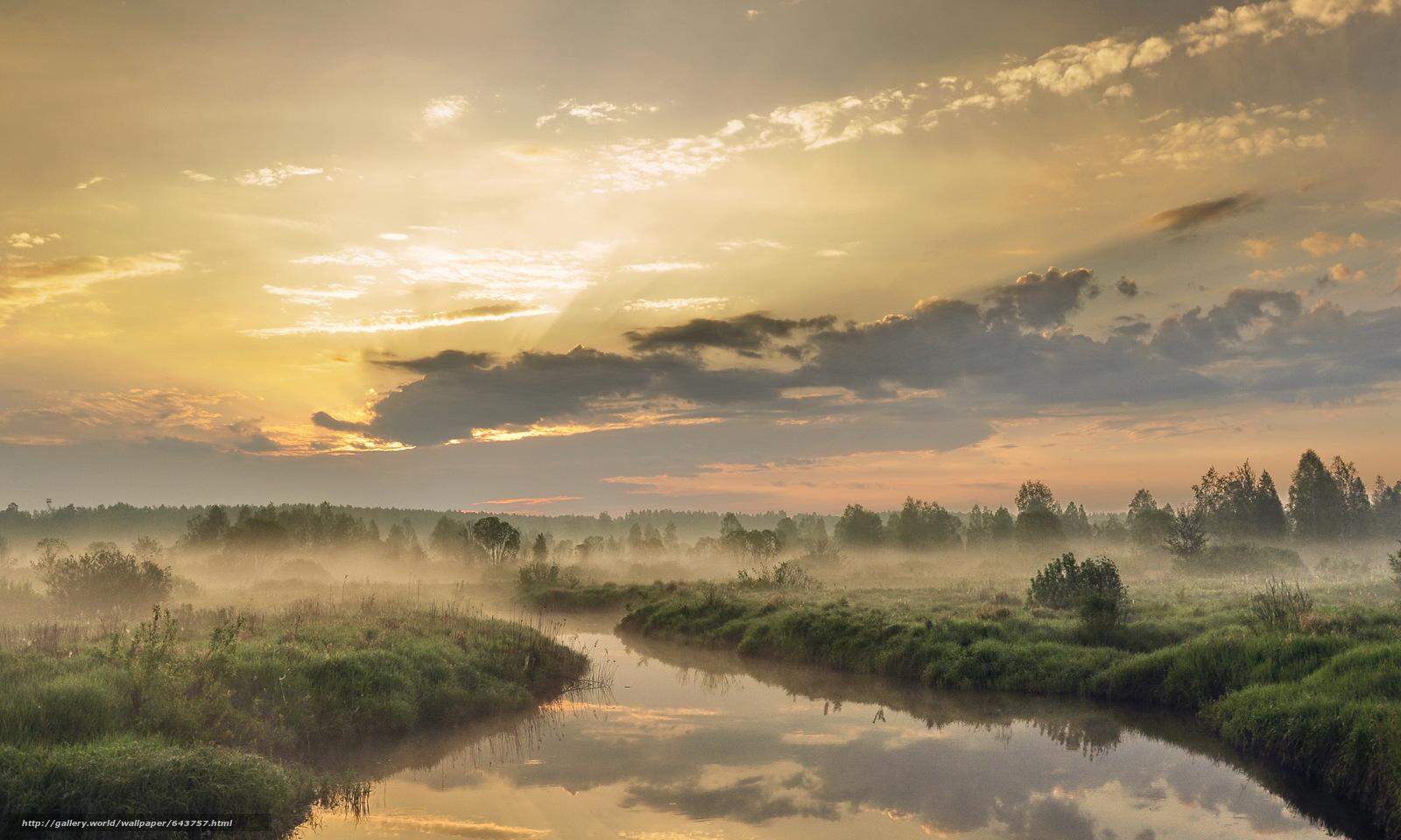 Download wallpaper Outback,  Nizhny Novgorod Region,  Russia,  small river free desktop wallpaper in the resolution 3609x2165 — picture №643757