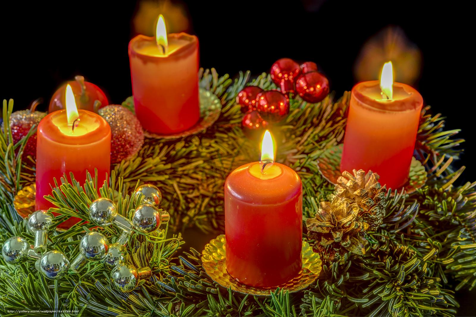 Скачать обои новый год,  рождество,  новогодние обои,  свечи бесплатно для рабочего стола в разрешении 6016x4016 — картинка №643799