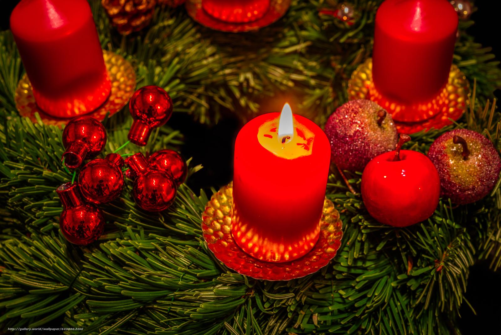 Скачать обои новый год,  рождество,  новогодние обои,  свечи бесплатно для рабочего стола в разрешении 6016x4016 — картинка №643800