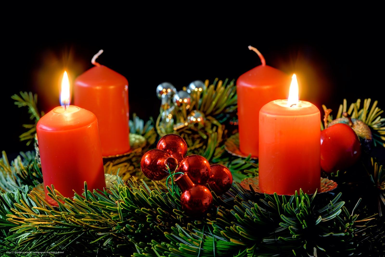 Скачать обои новый год,  рождество,  новогодние обои,  свечи бесплатно для рабочего стола в разрешении 6016x4016 — картинка №643801