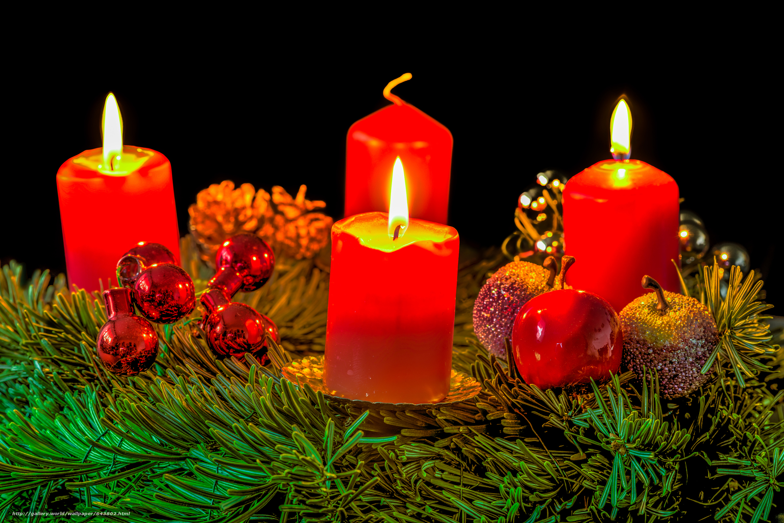 Download wallpaper New Year,  Christmas,  Christmas Wallpaper,  Candles free desktop wallpaper in the resolution 6016x4016 — picture №643802