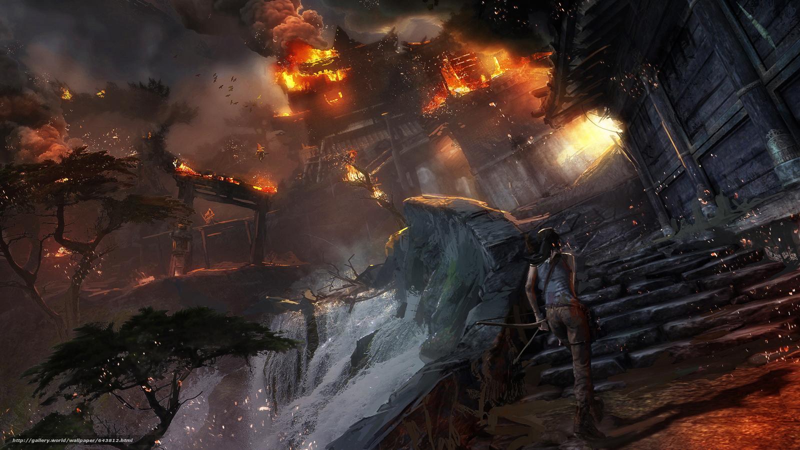 pobra tapety Tomb Raider,  Lara Croft,  Azja,  wieś Darmowe tapety na pulpit rozdzielczoci 2667x1500 — zdjcie №643812