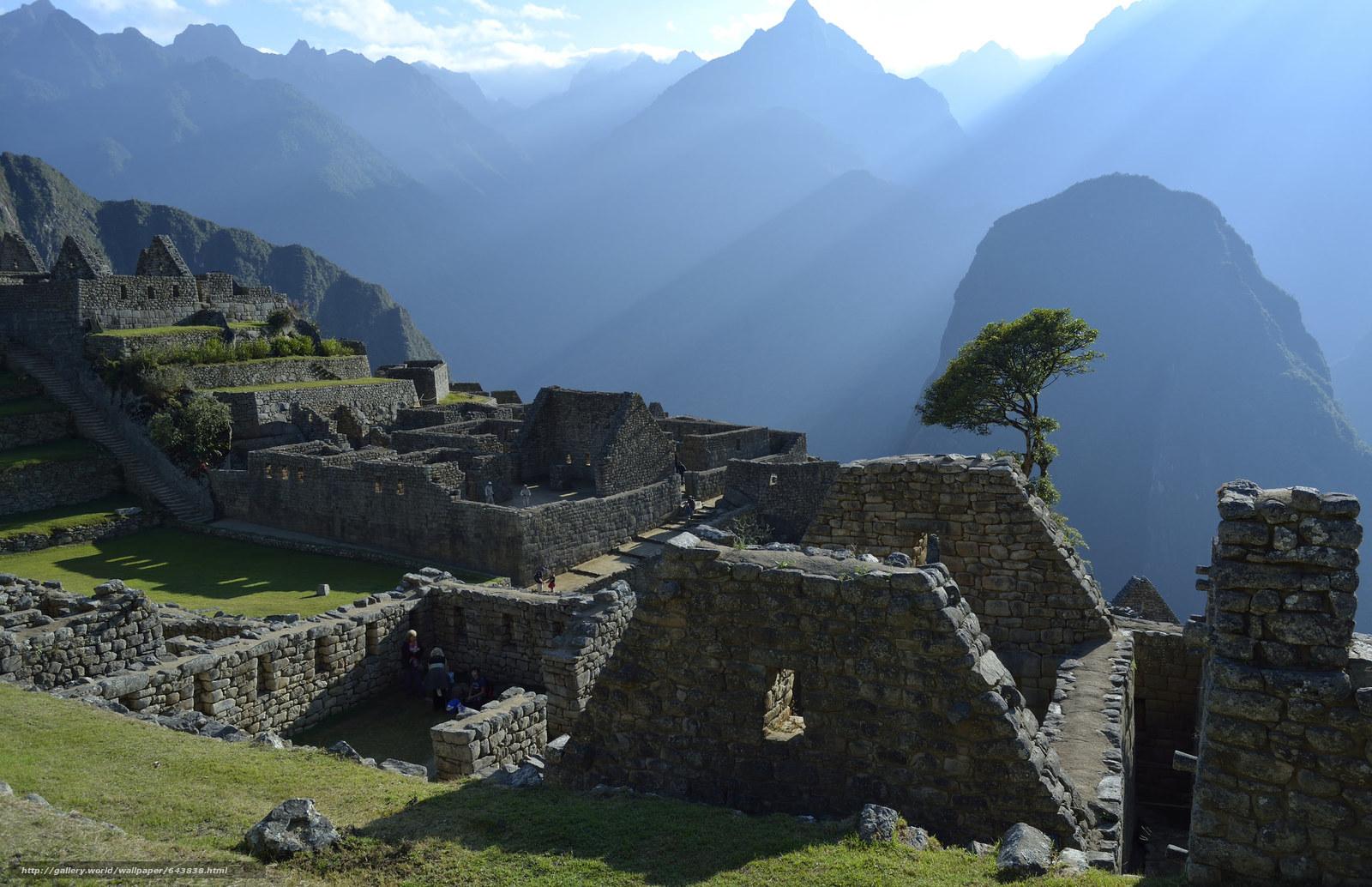 Download wallpaper Machu Picchu,  Peru,  South America,  architecture free desktop wallpaper in the resolution 2048x1324 — picture №643838