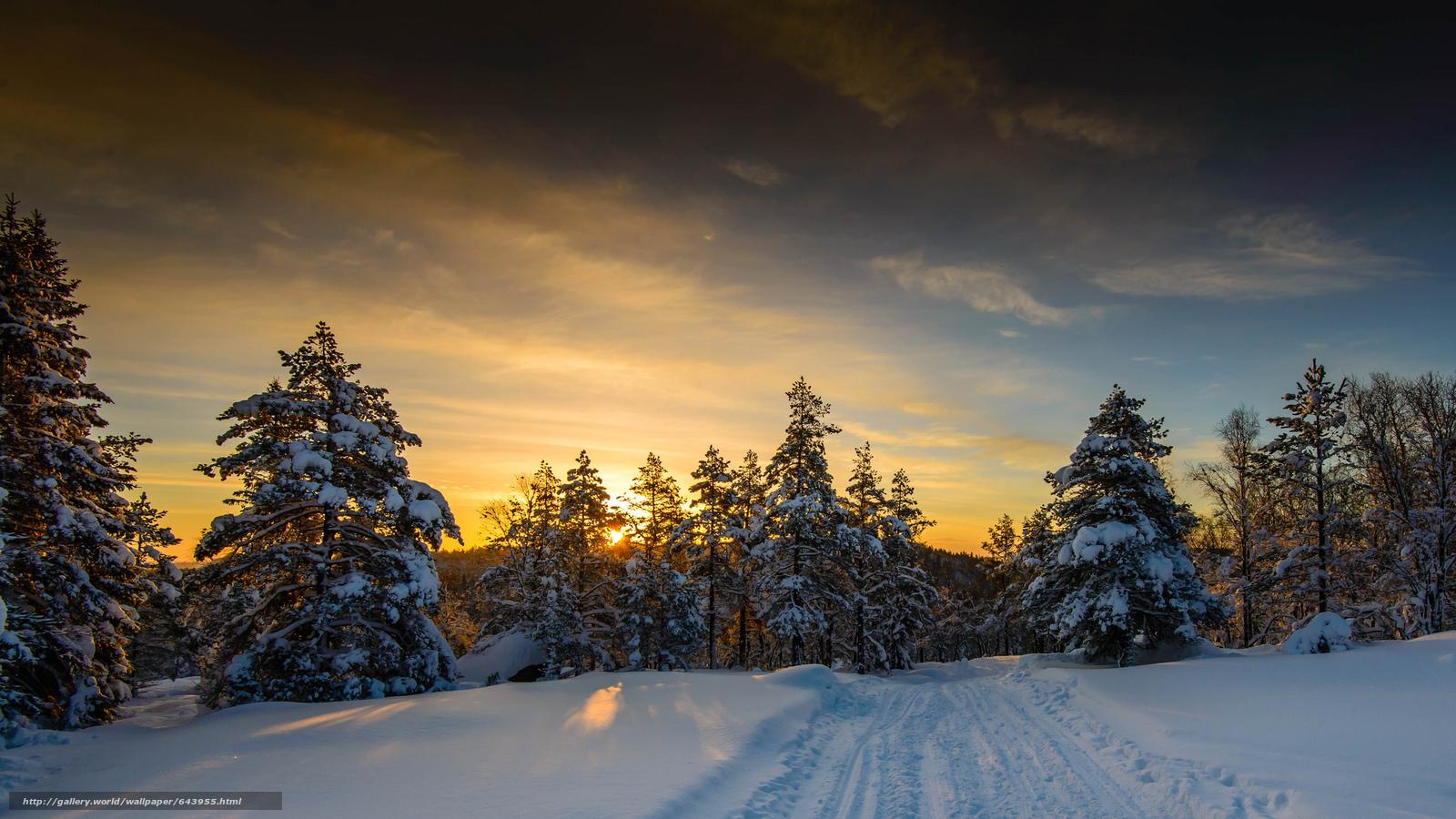 зима домик в горах обои на рабочий стол