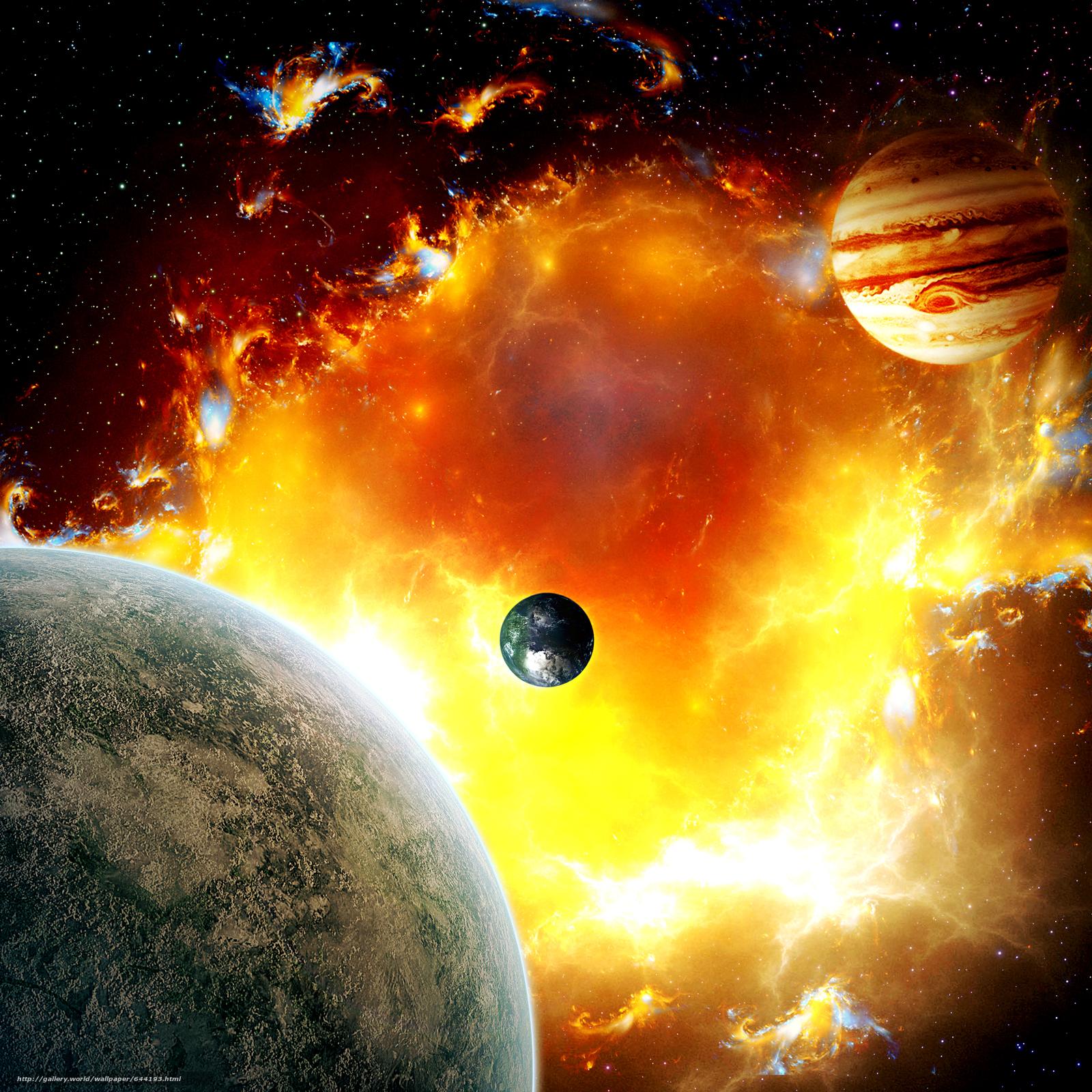 Descargar gratis espacio,  Planeta,  3d,  arte Fondos de escritorio en la resolucin 2500x2500 — imagen №644193