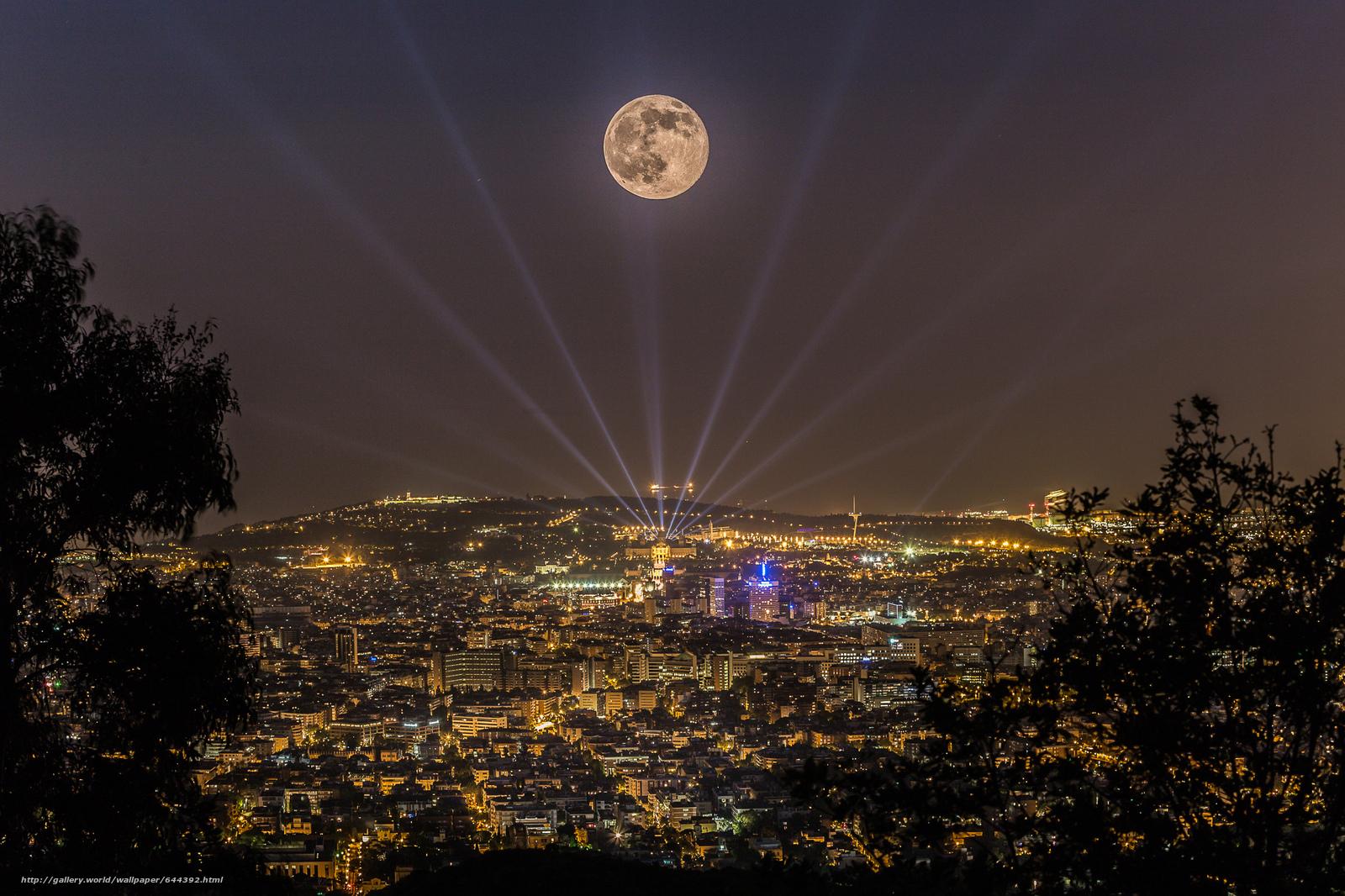 Download wallpaper barcelona,  Katoloniya,  night,  city free desktop wallpaper in the resolution 2048x1365 — picture №644392