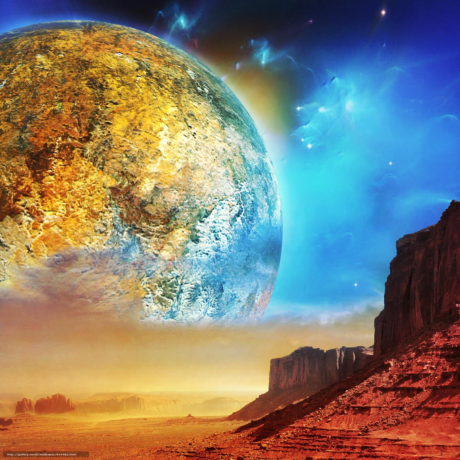 Descargar gratis espacio,  Planeta,  3d,  arte Fondos de escritorio en la resolucin 2500x2500 — imagen №644482