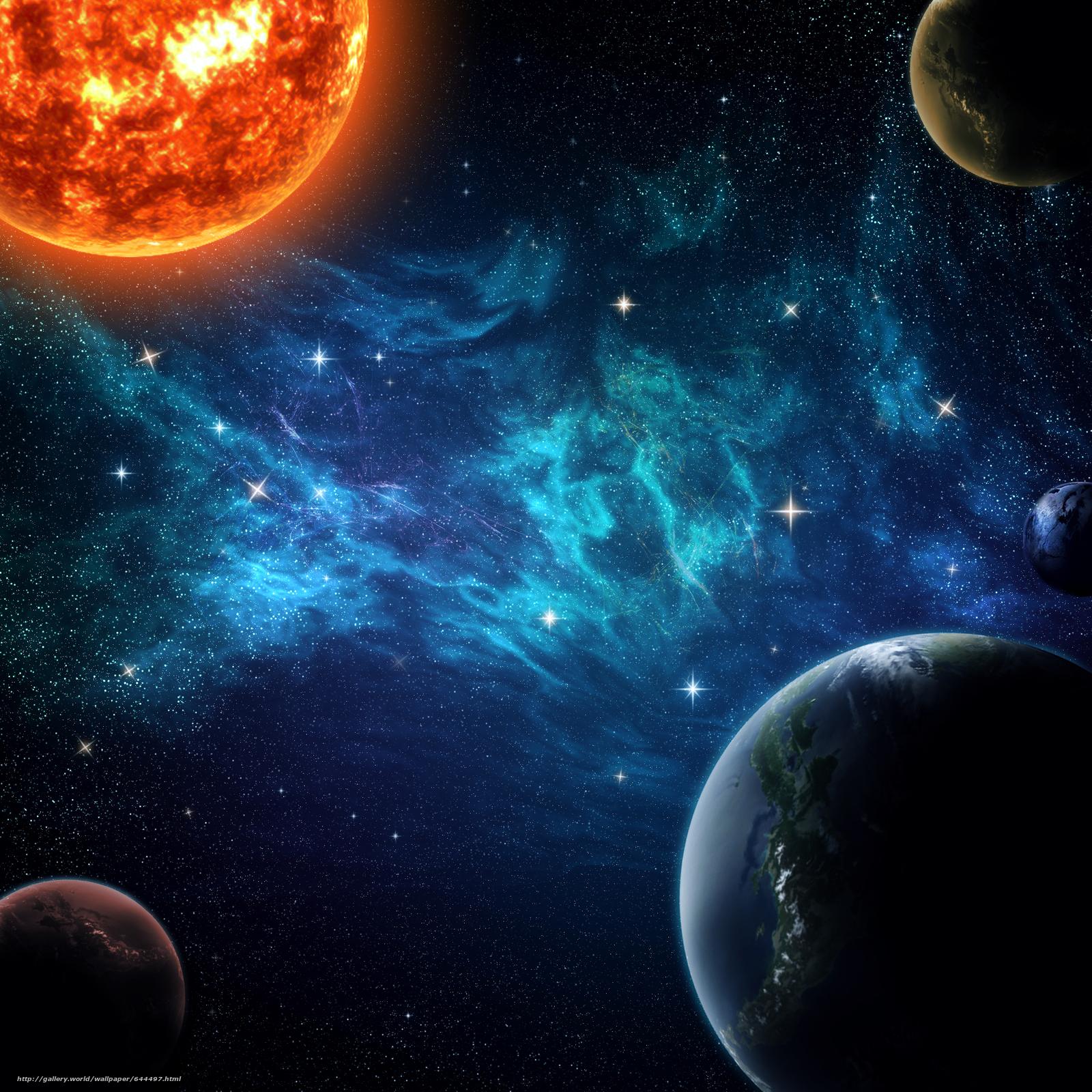 Descargar gratis espacio,  Planeta,  3d,  arte Fondos de escritorio en la resolucin 2000x2000 — imagen №644497