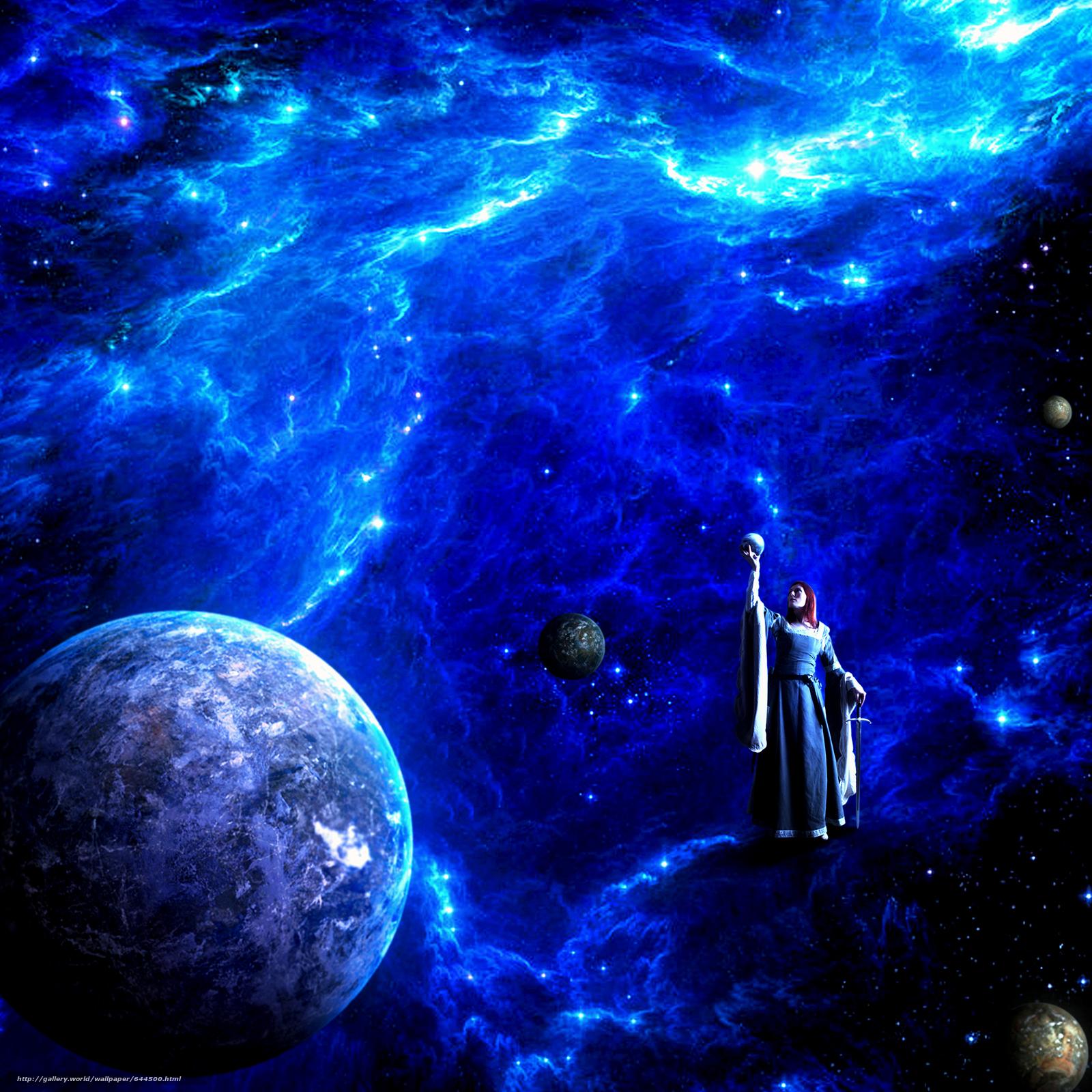 Скачать обои космос,  планеты,  3d,  art бесплатно для рабочего стола в разрешении 2500x2500 — картинка №644500