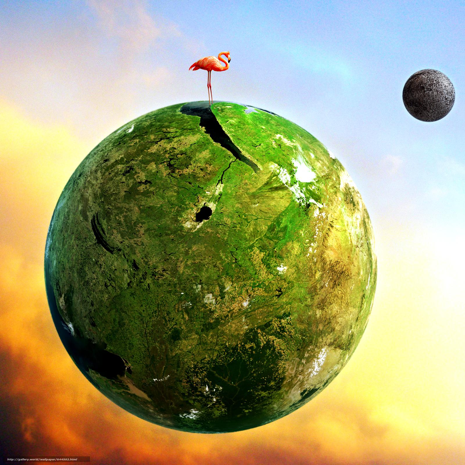 Descargar gratis espacio,  Planeta,  3d,  arte Fondos de escritorio en la resolucin 2500x2500 — imagen №644502
