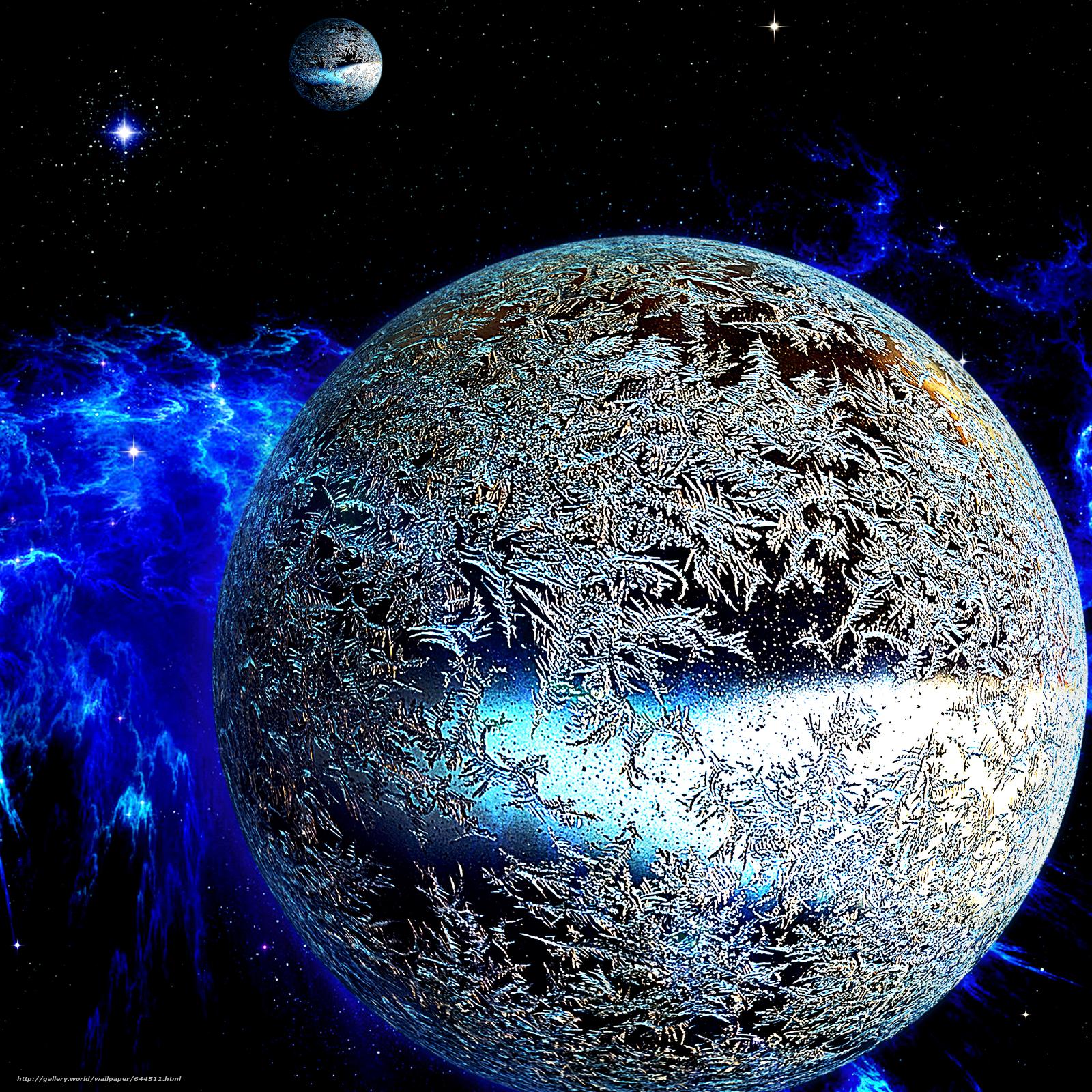 Скачать обои космос,  планеты,  3d,  art бесплатно для рабочего стола в разрешении 2500x2500 — картинка №644511